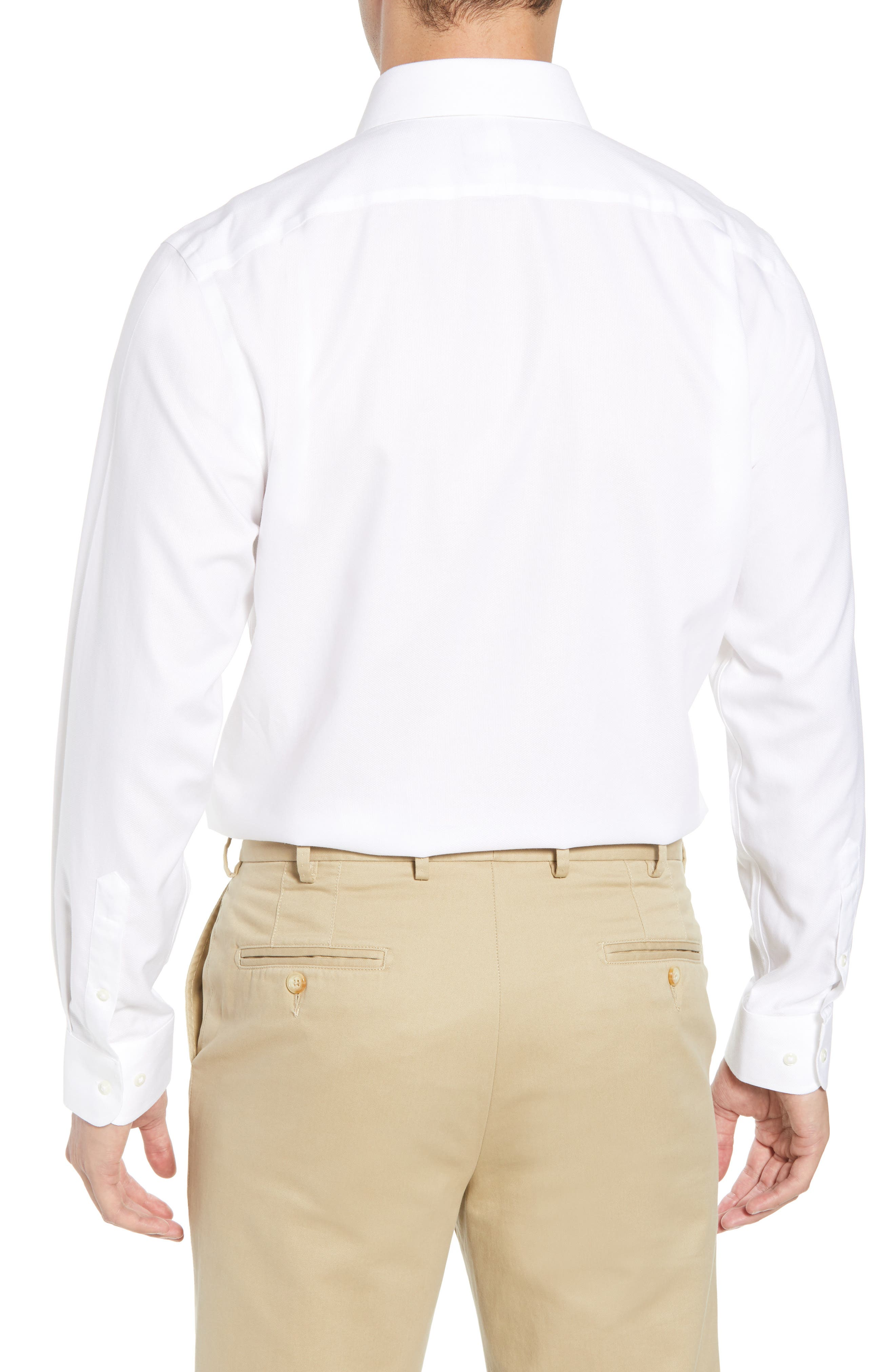 Smartcare<sup>™</sup> Traditional Fit Solid Dress Shirt,                             Alternate thumbnail 3, color,                             White