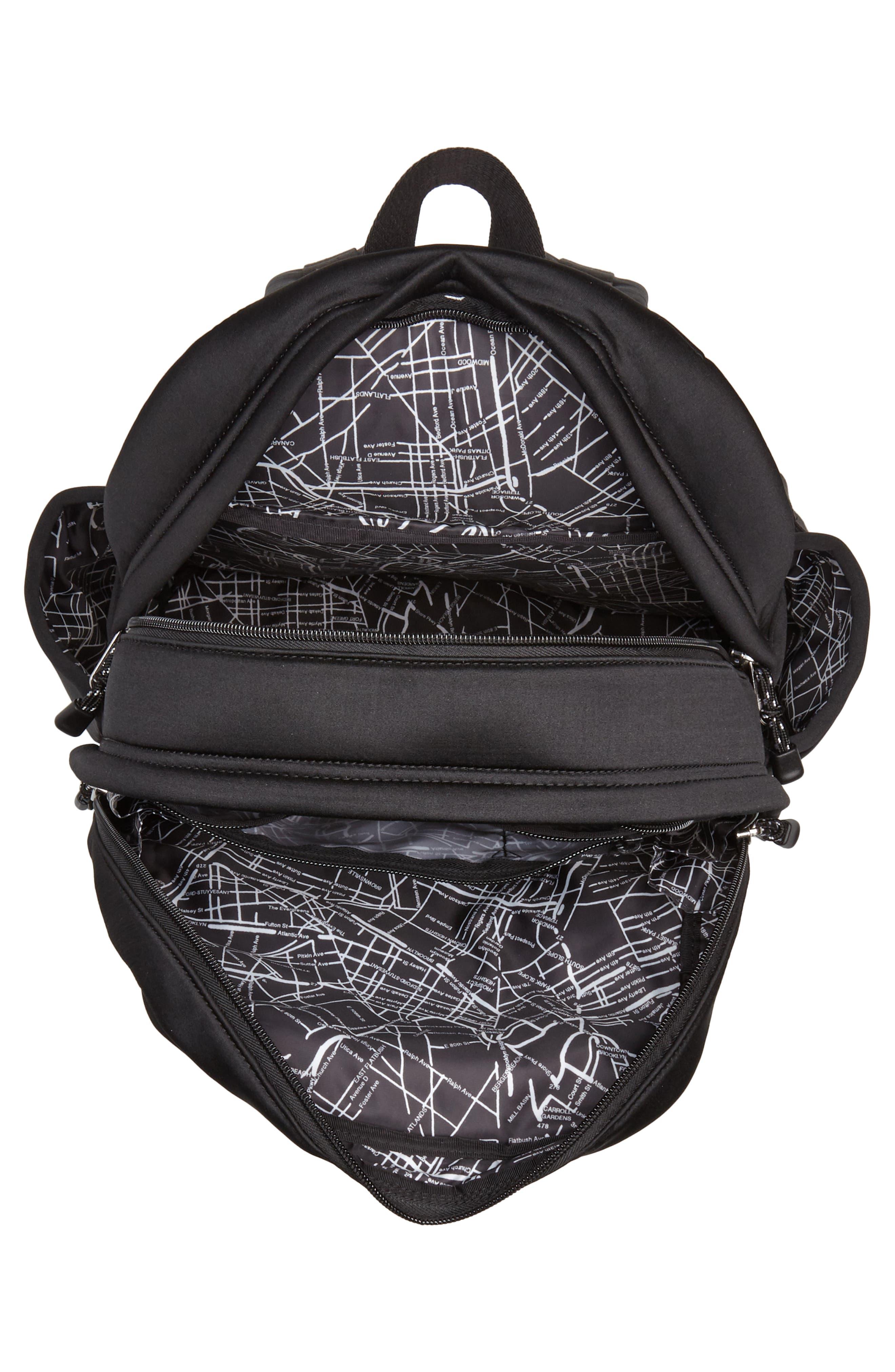 Bedford Neoprene Backpack,                             Alternate thumbnail 4, color,                             Black