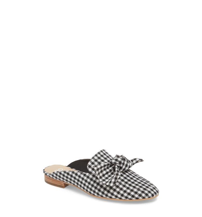Maddy Mule,                         Main,                         color, Black / White Fabric