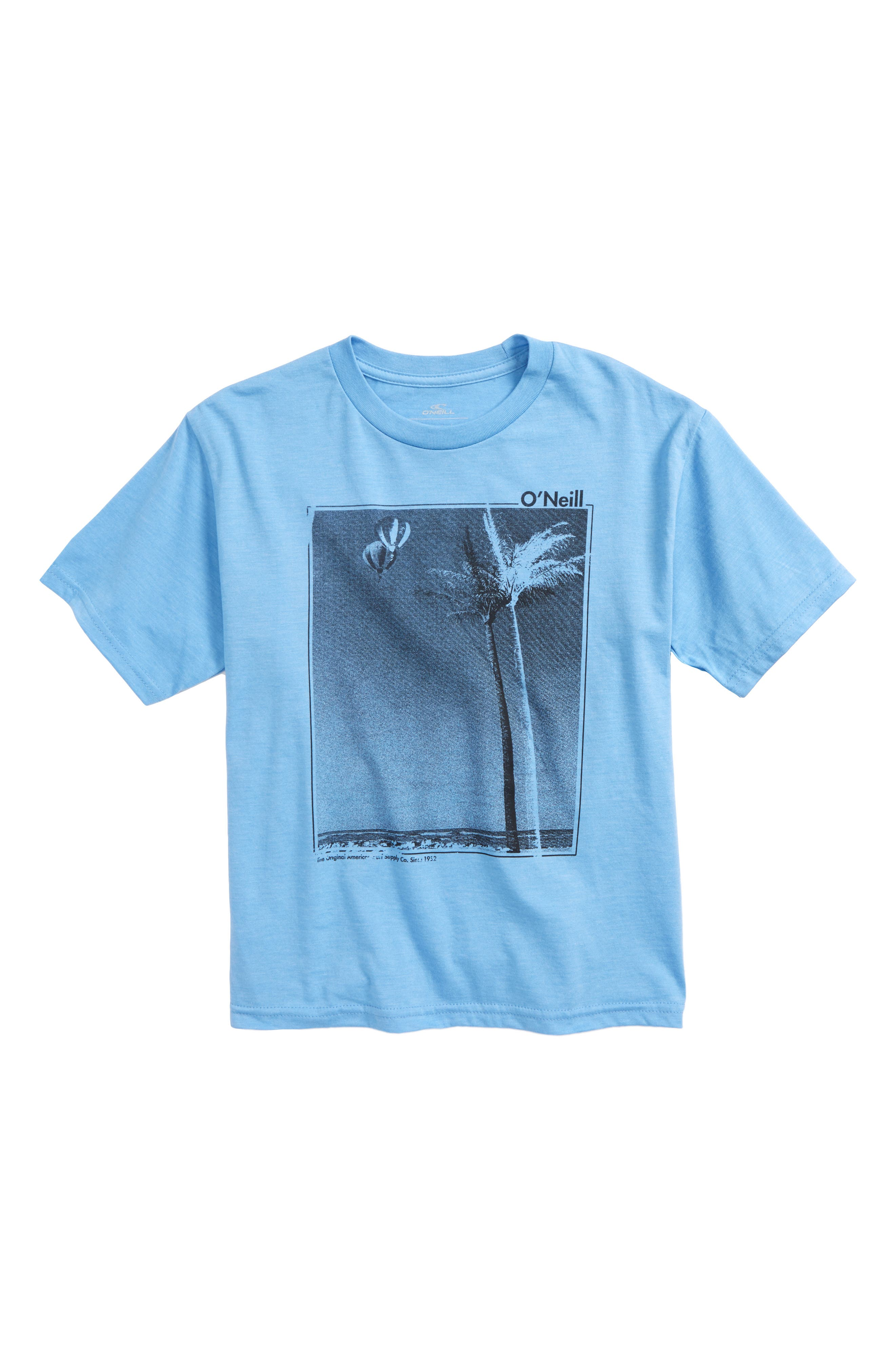 Treez T-Shirt,                         Main,                         color, Light Blue Heather