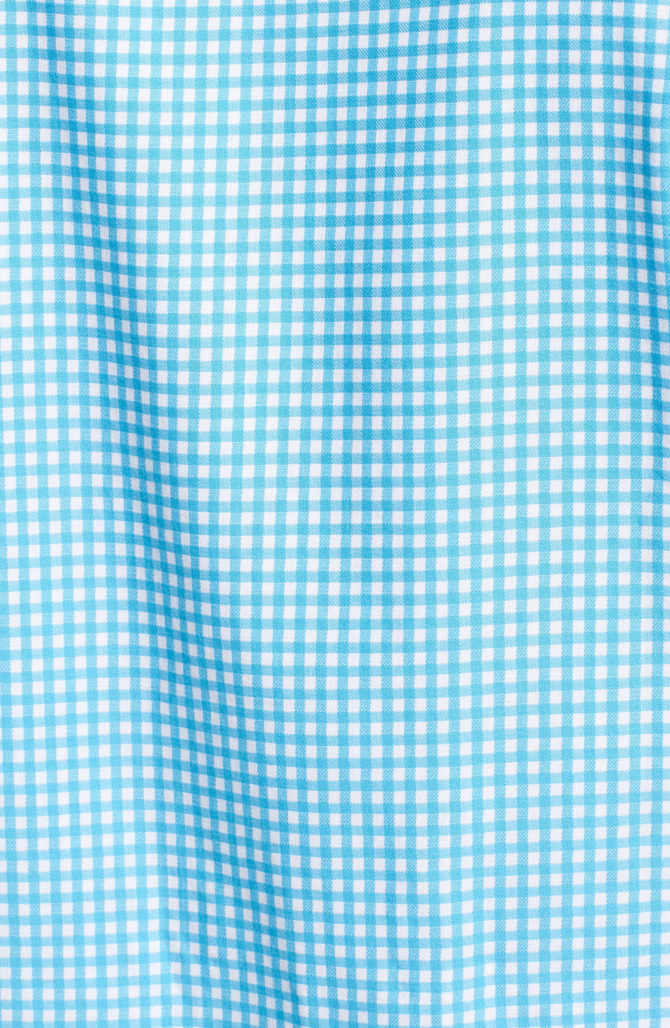 Aden Regular Fit Sport Shirt,                             Alternate thumbnail 5, color,                             Aqua
