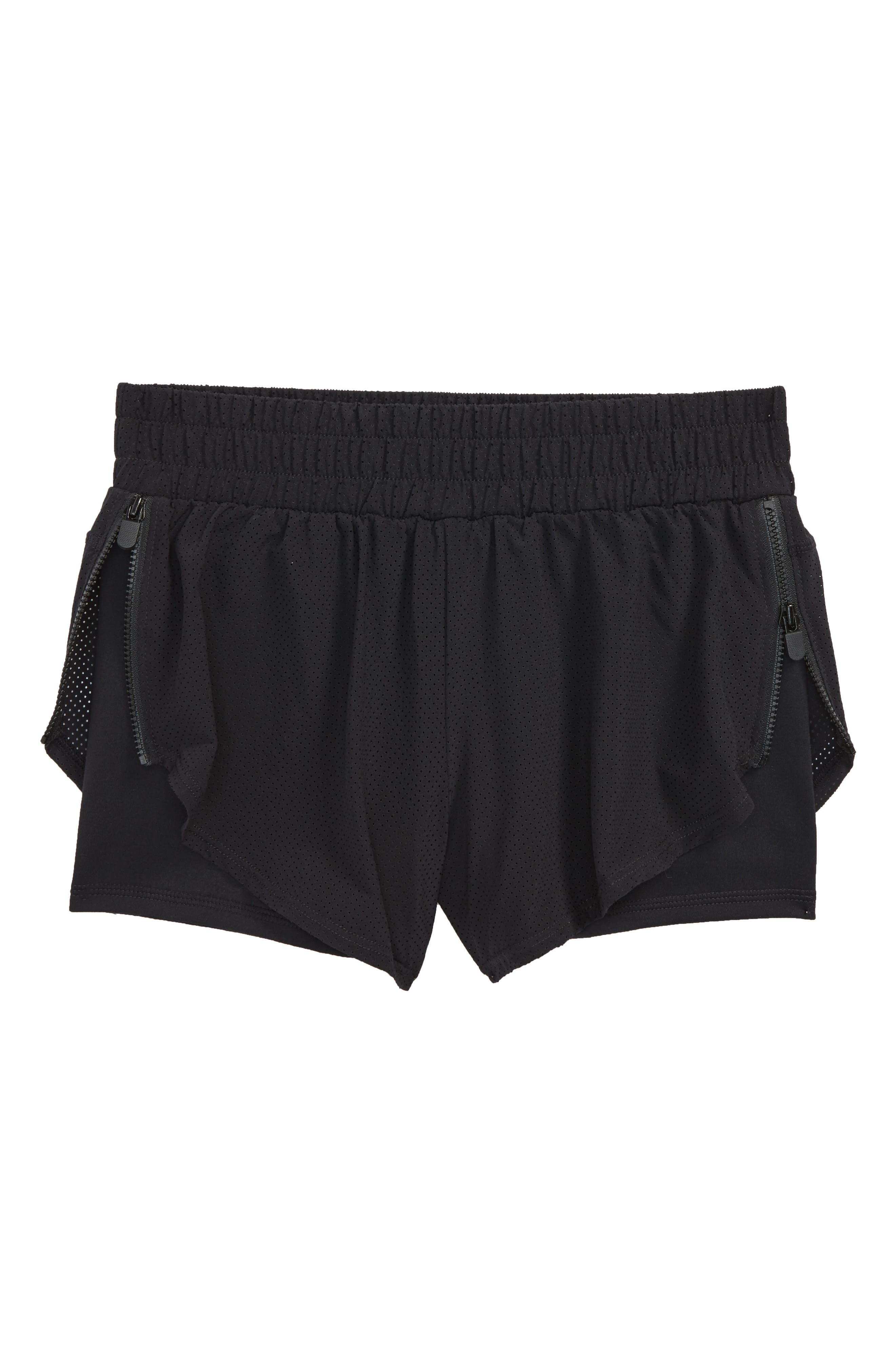 Double Layer Shorts,                         Main,                         color, Black