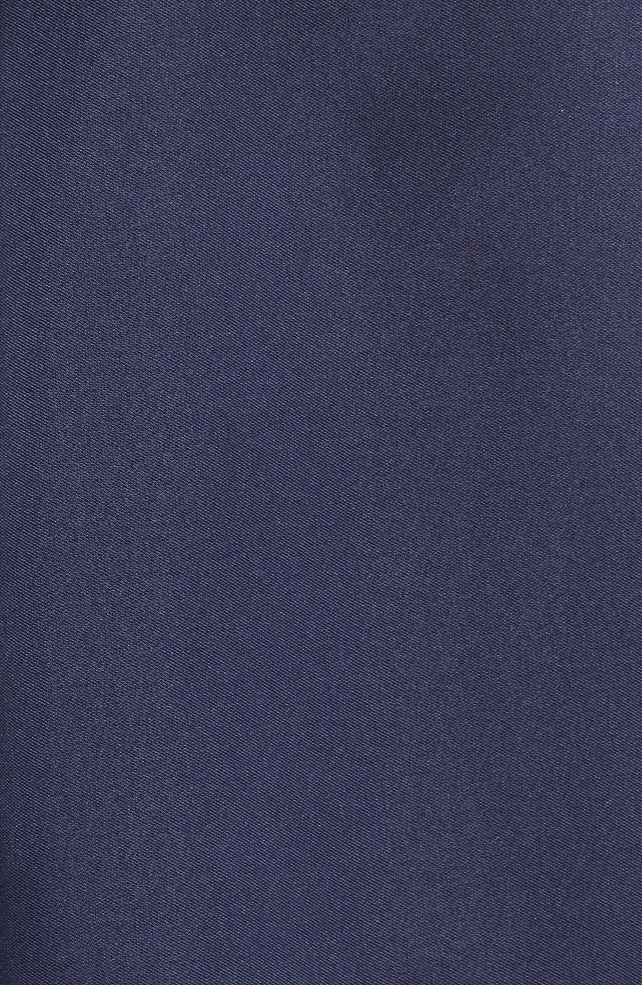 Off the Shoulder Mikado High/Low Gown,                             Alternate thumbnail 5, color,                             Navy