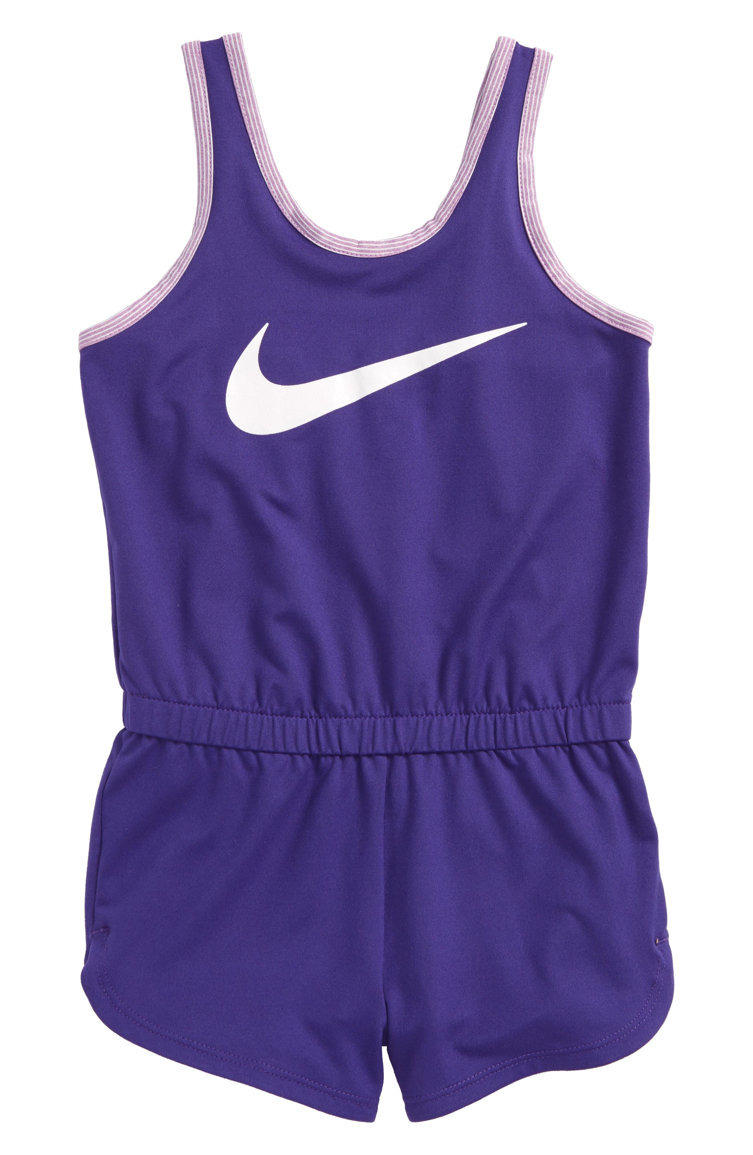Dri-FIT Sport Romper,                         Main,                         color, Fusion Violet