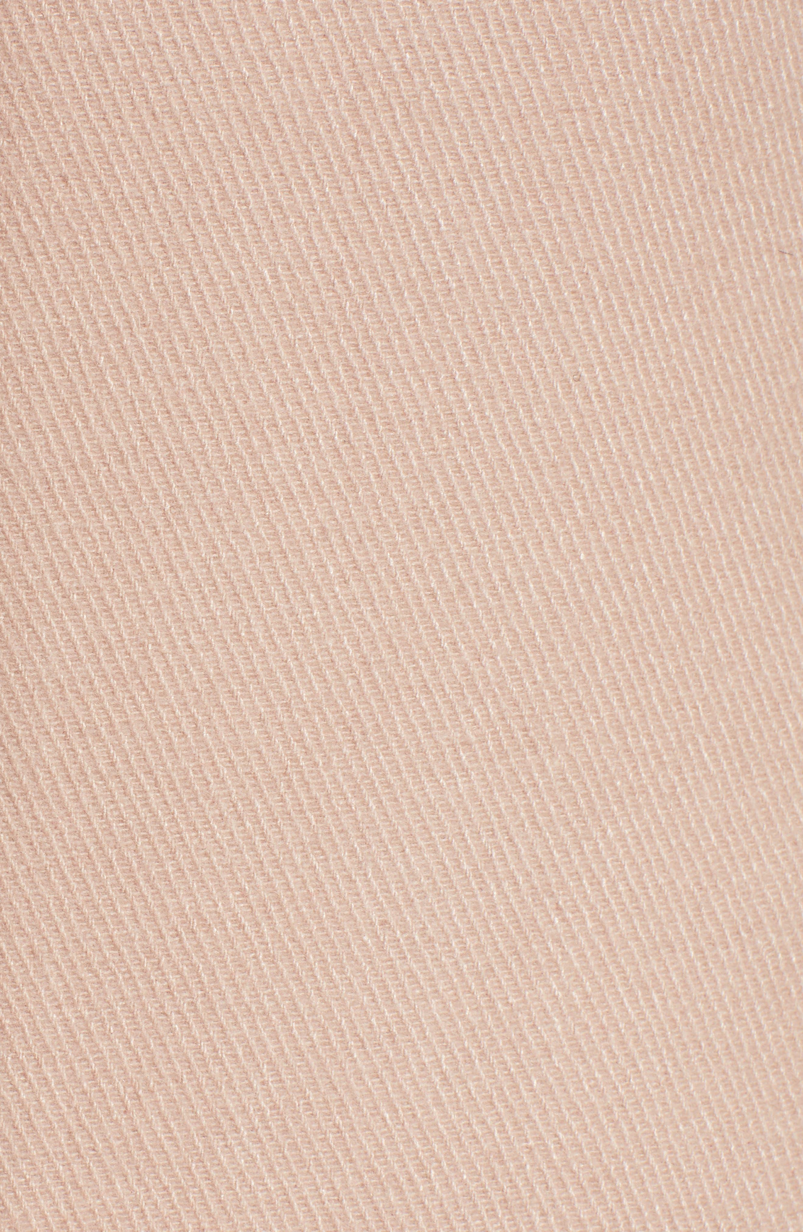 Ruffle Twill Coat,                             Alternate thumbnail 6, color,                             Blush