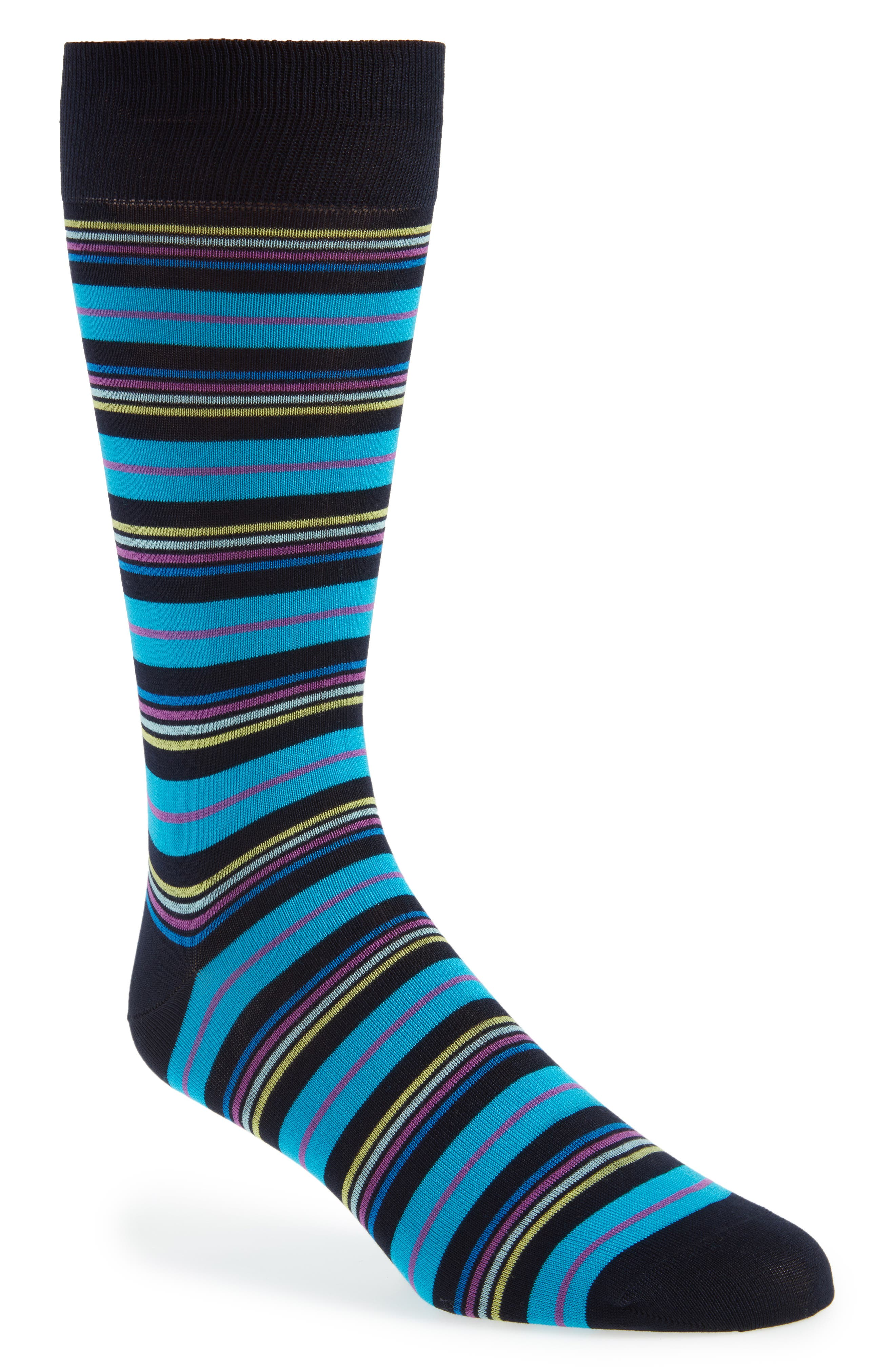 Multistripe Socks,                             Main thumbnail 1, color,                             Navy