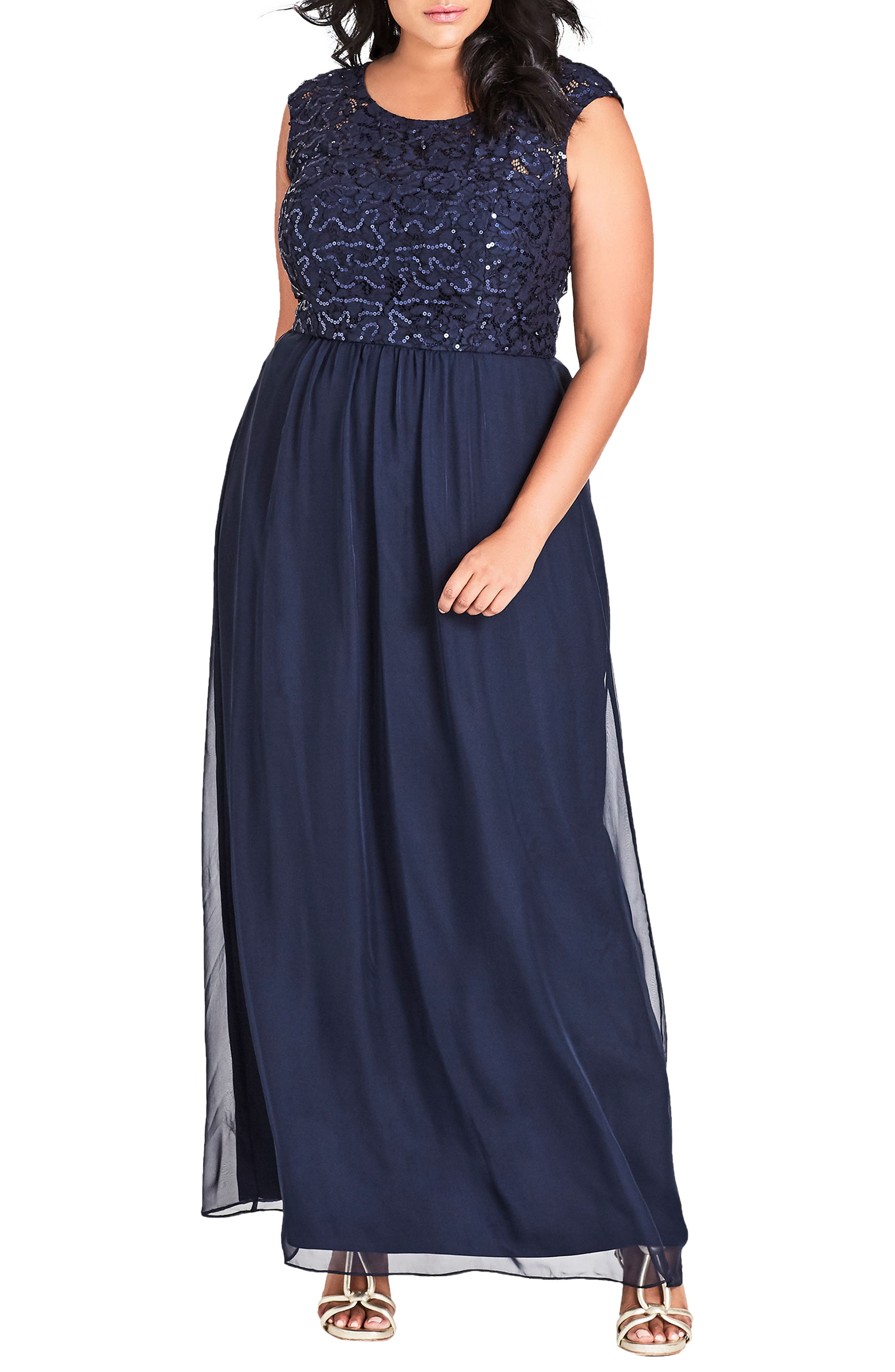 Sweet Love Maxi Dress,                             Main thumbnail 1, color,                             Navy