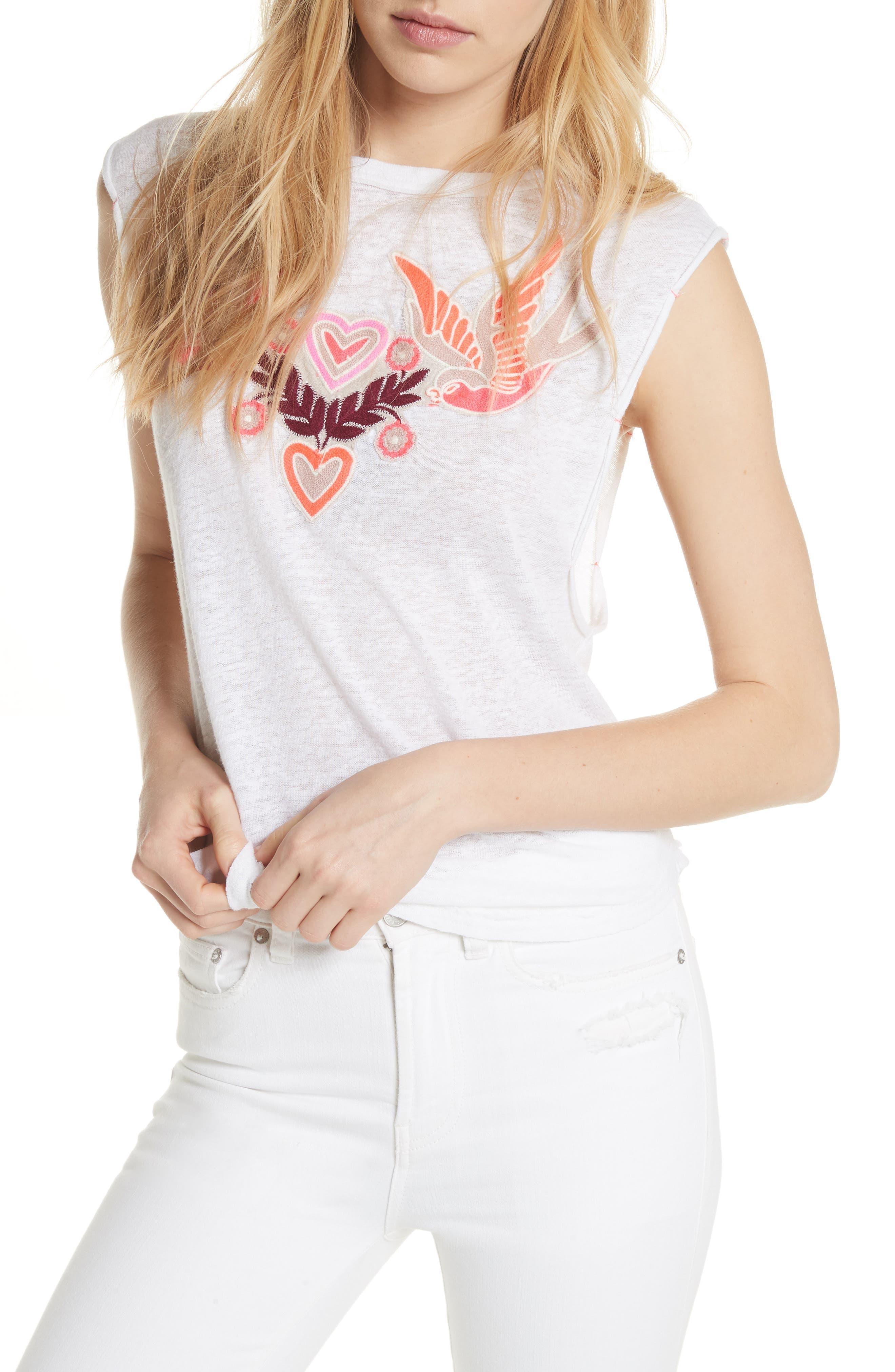 Love Birds Tee,                         Main,                         color, White