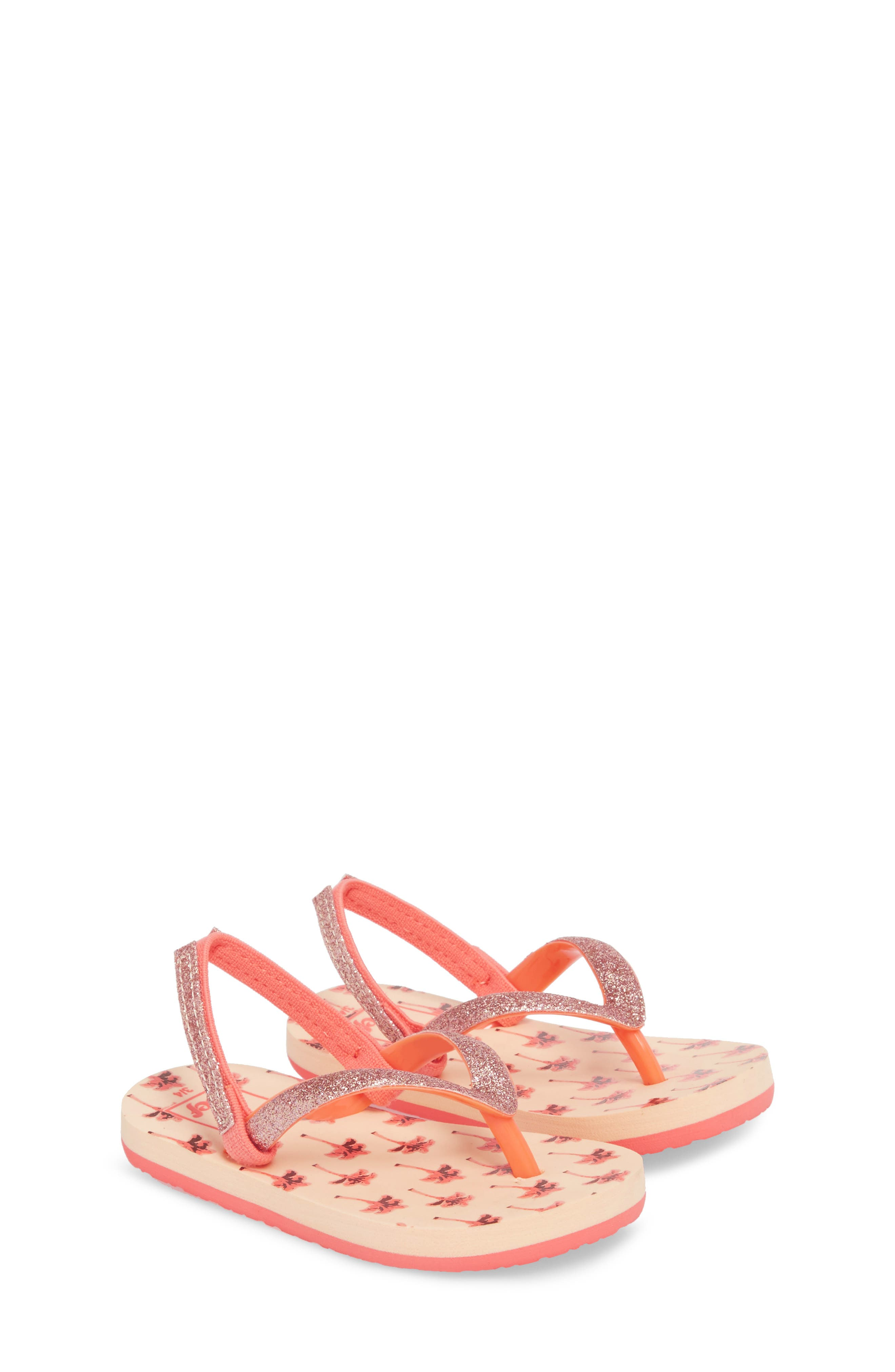 Little Stargazer Print Flip Flop,                             Alternate thumbnail 3, color,                             Orange