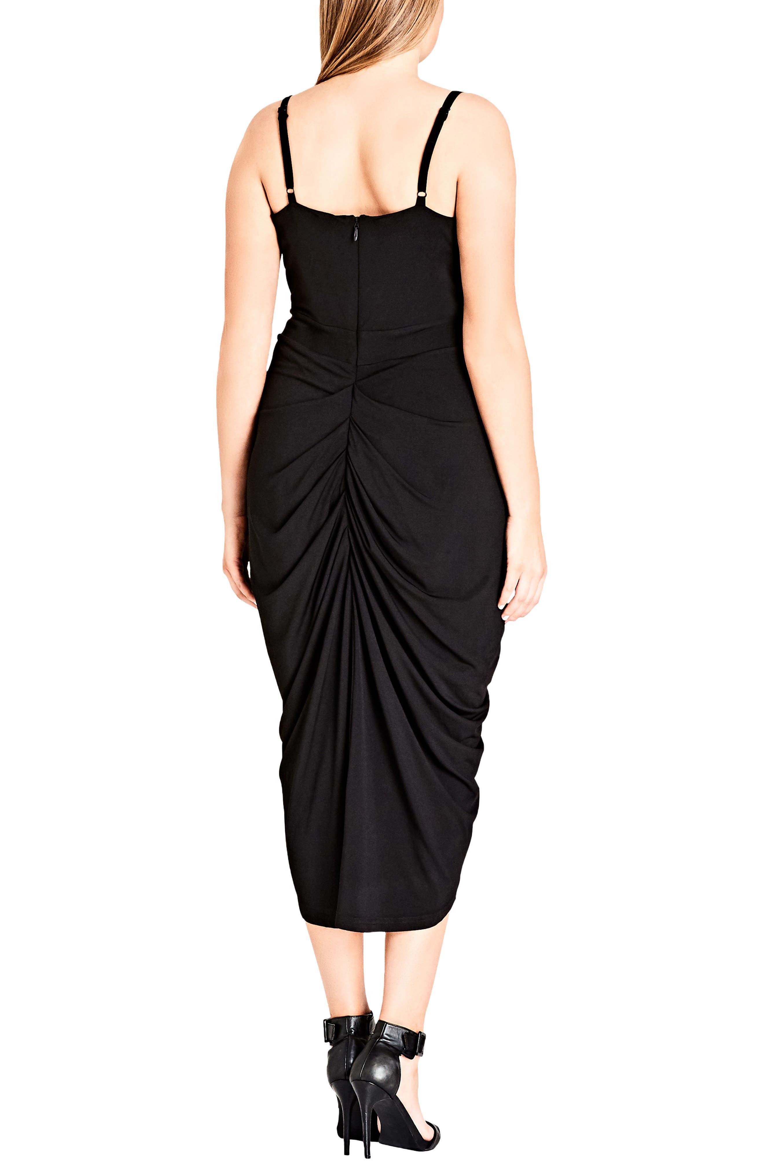 Temptress Dress,                             Alternate thumbnail 2, color,                             Black