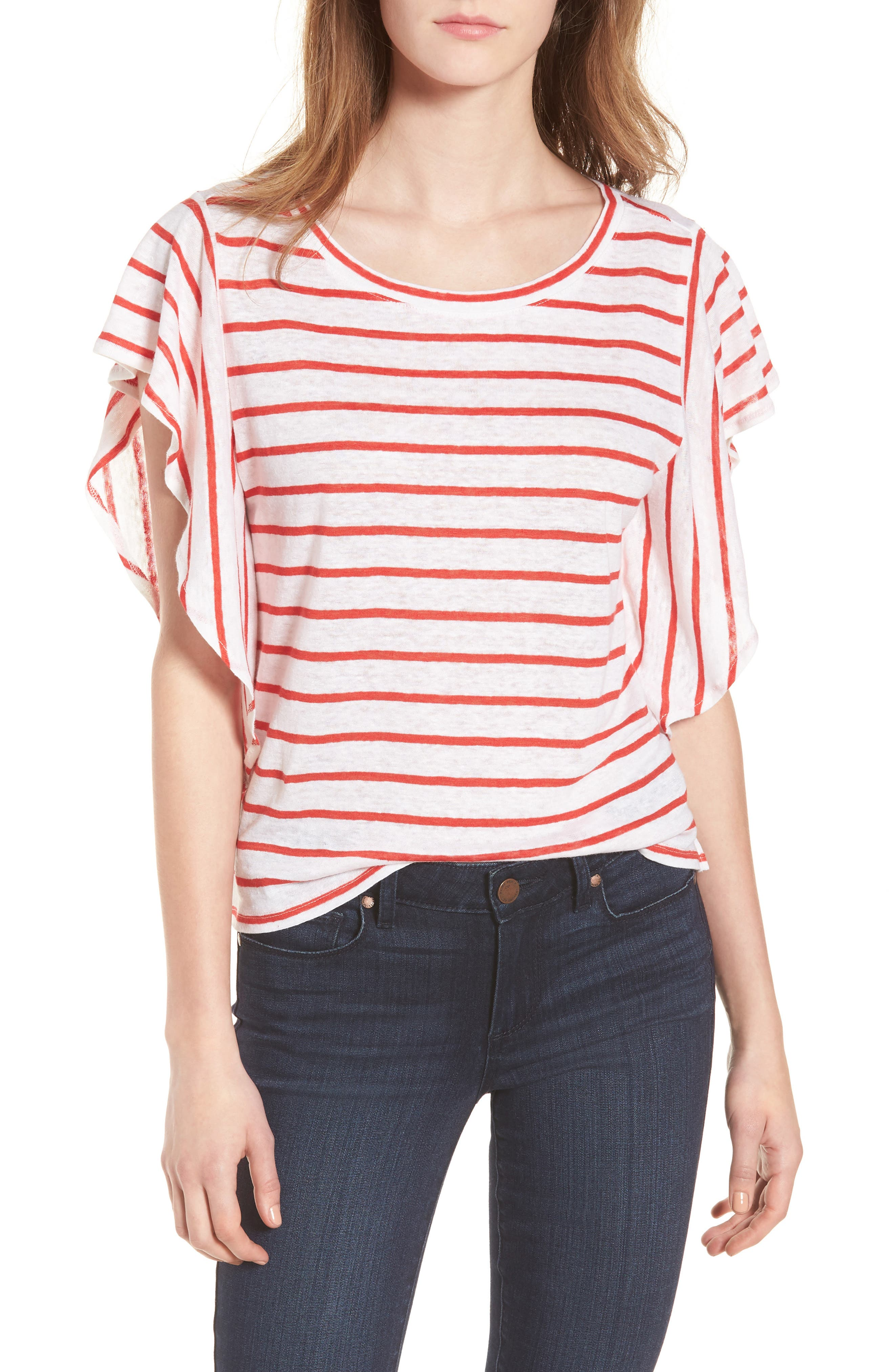 Cannon Stripe Linen Top by Cupcakes And Cashmere