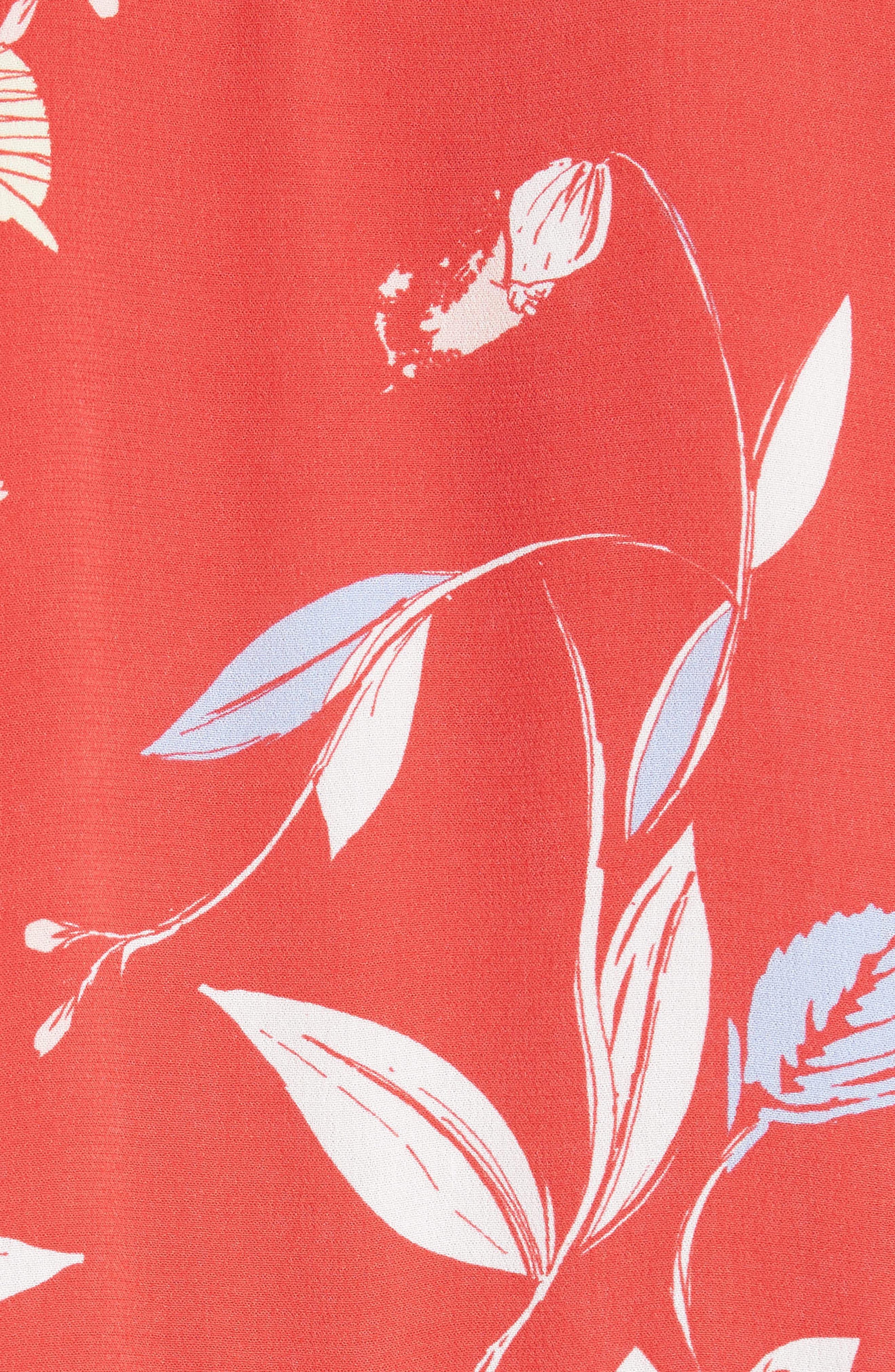 Bella Print Tunic,                             Alternate thumbnail 5, color,                             Red