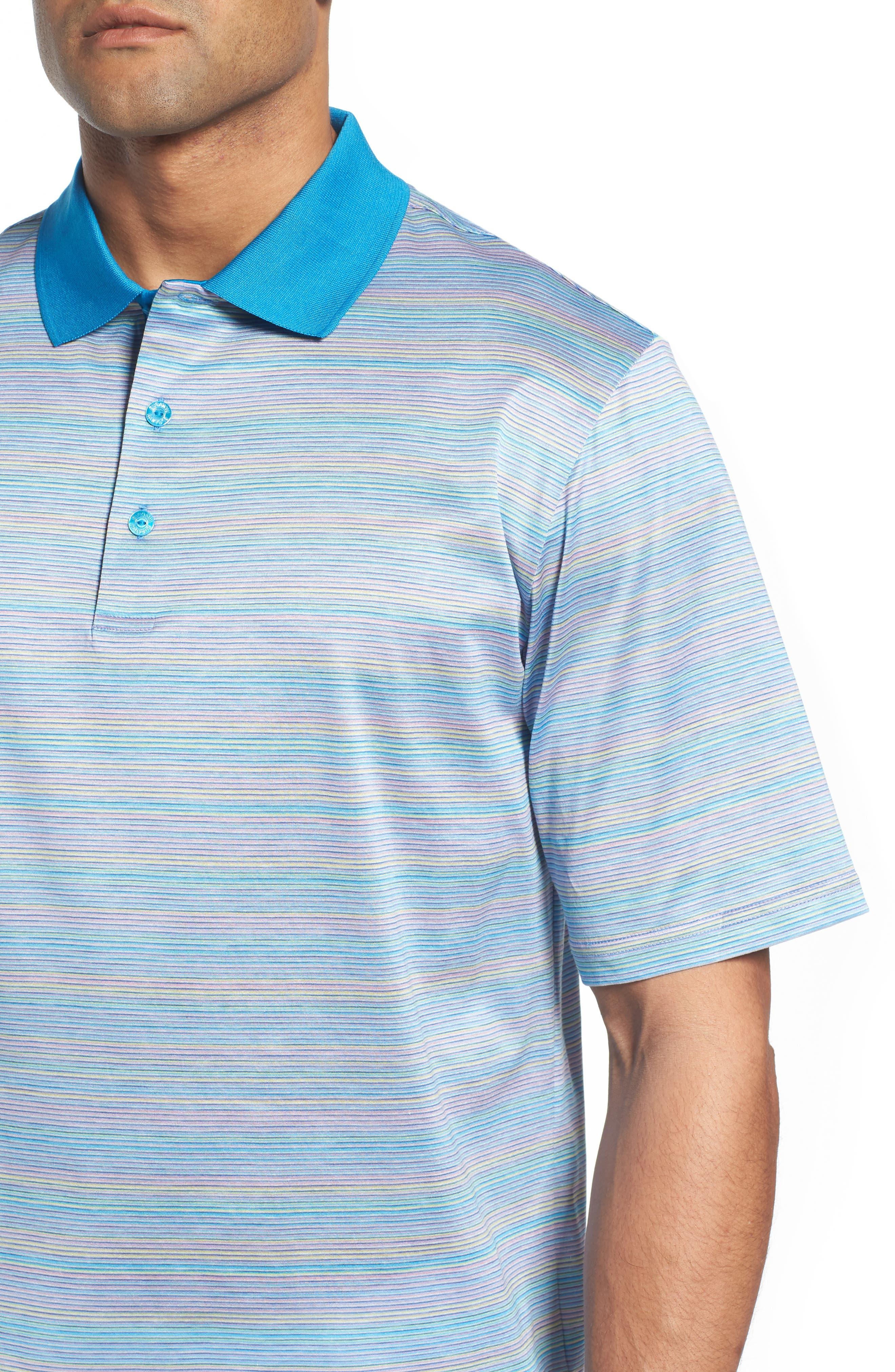 Stripe Mercerized Cotton Polo,                             Alternate thumbnail 4, color,                             Lilac