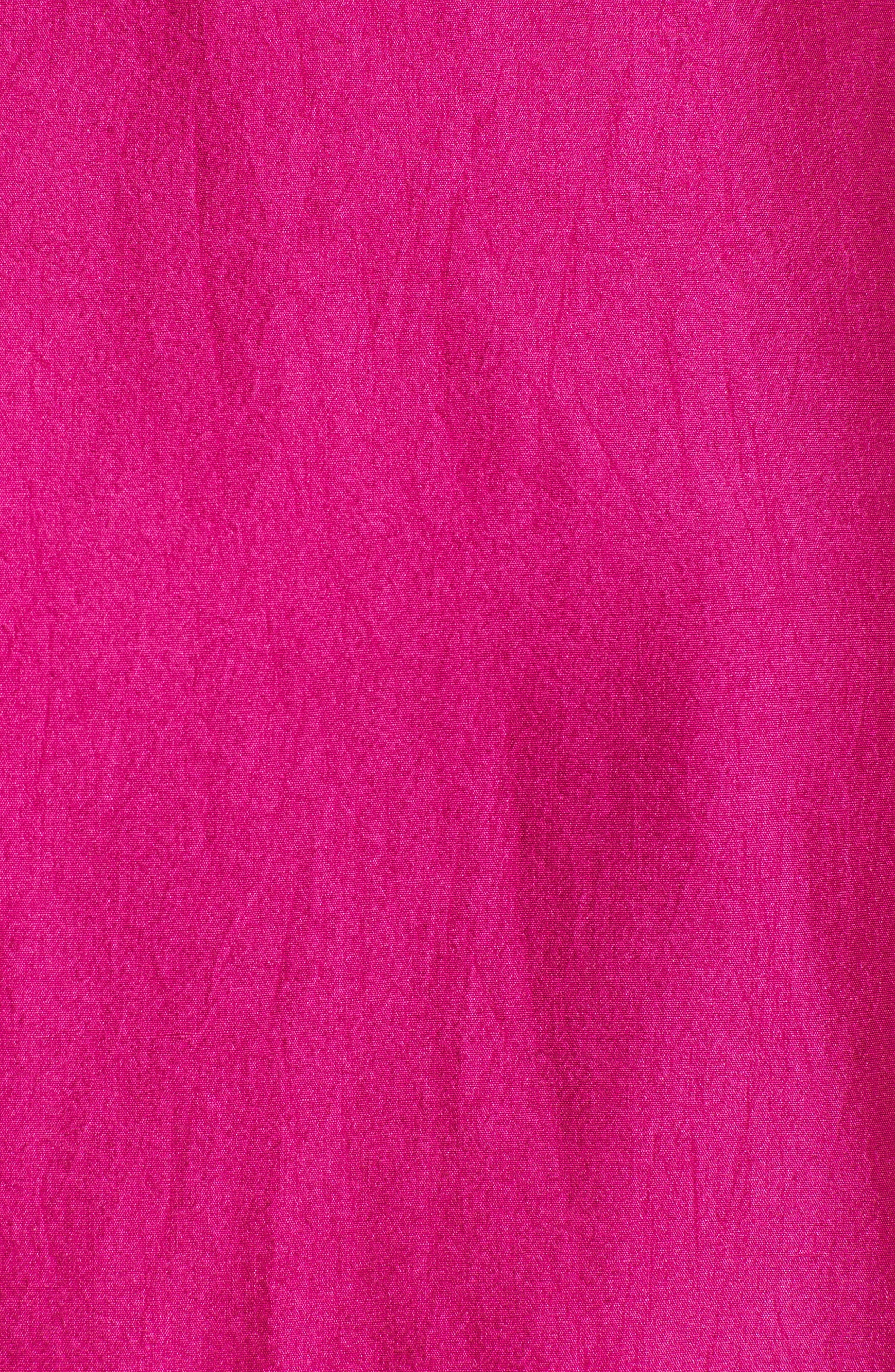 V-Back Silk Top,                             Alternate thumbnail 6, color,                             Cerise