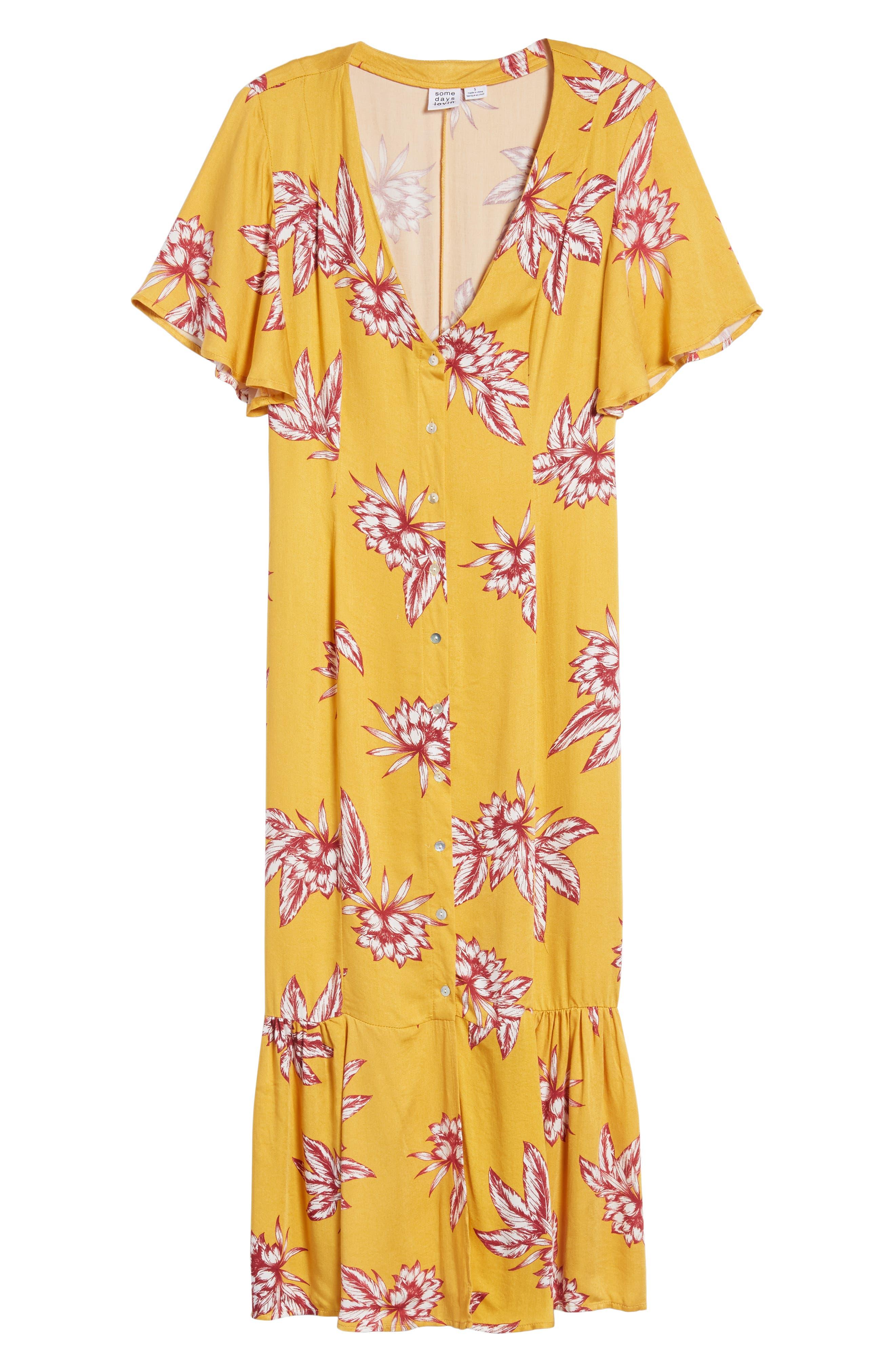 Searing Soul Midi Dress,                             Alternate thumbnail 8, color,                             Multi