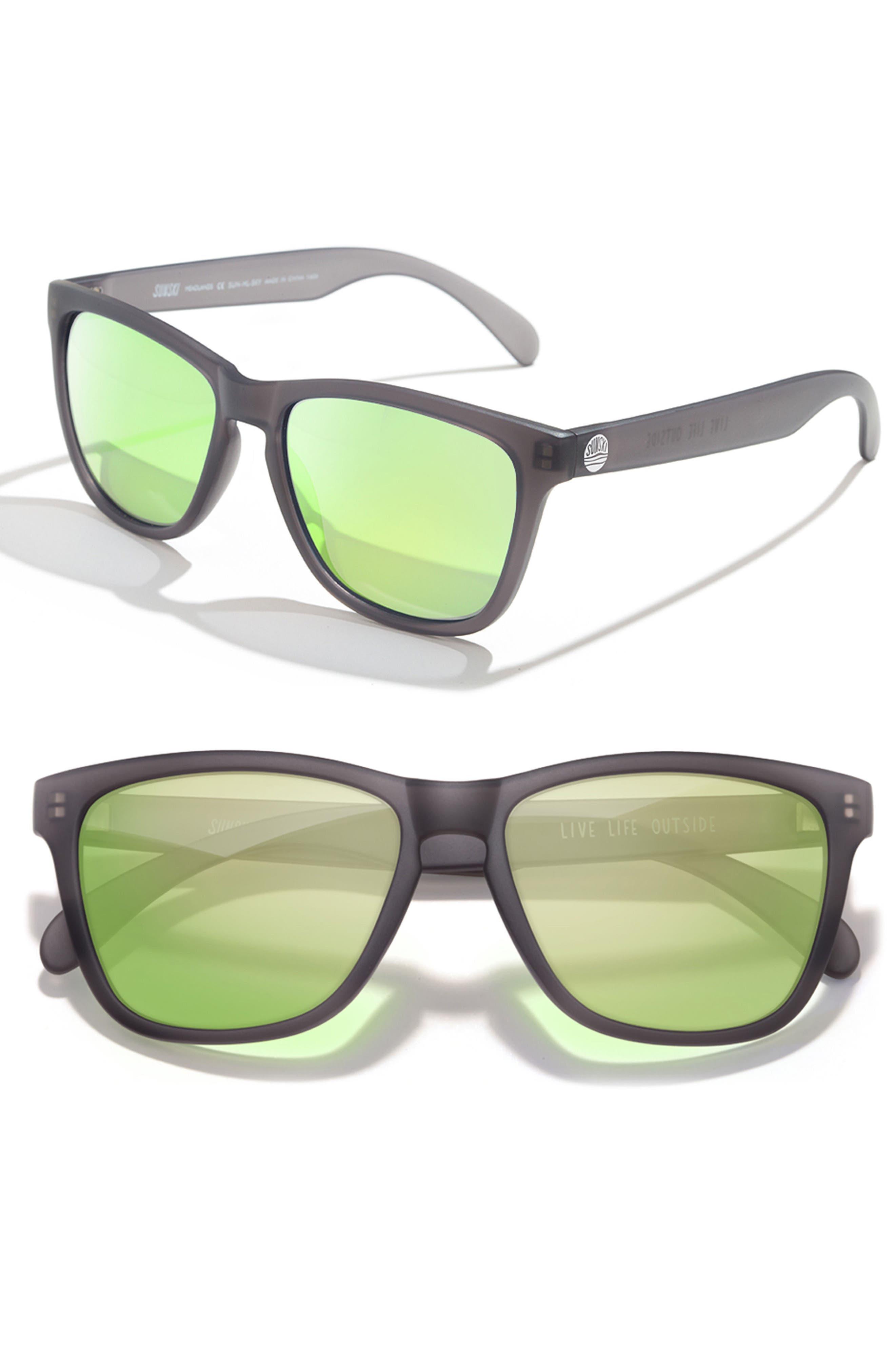 Headland 53m Polarized Sunglasses,                             Main thumbnail 1, color,                             Black / Lime