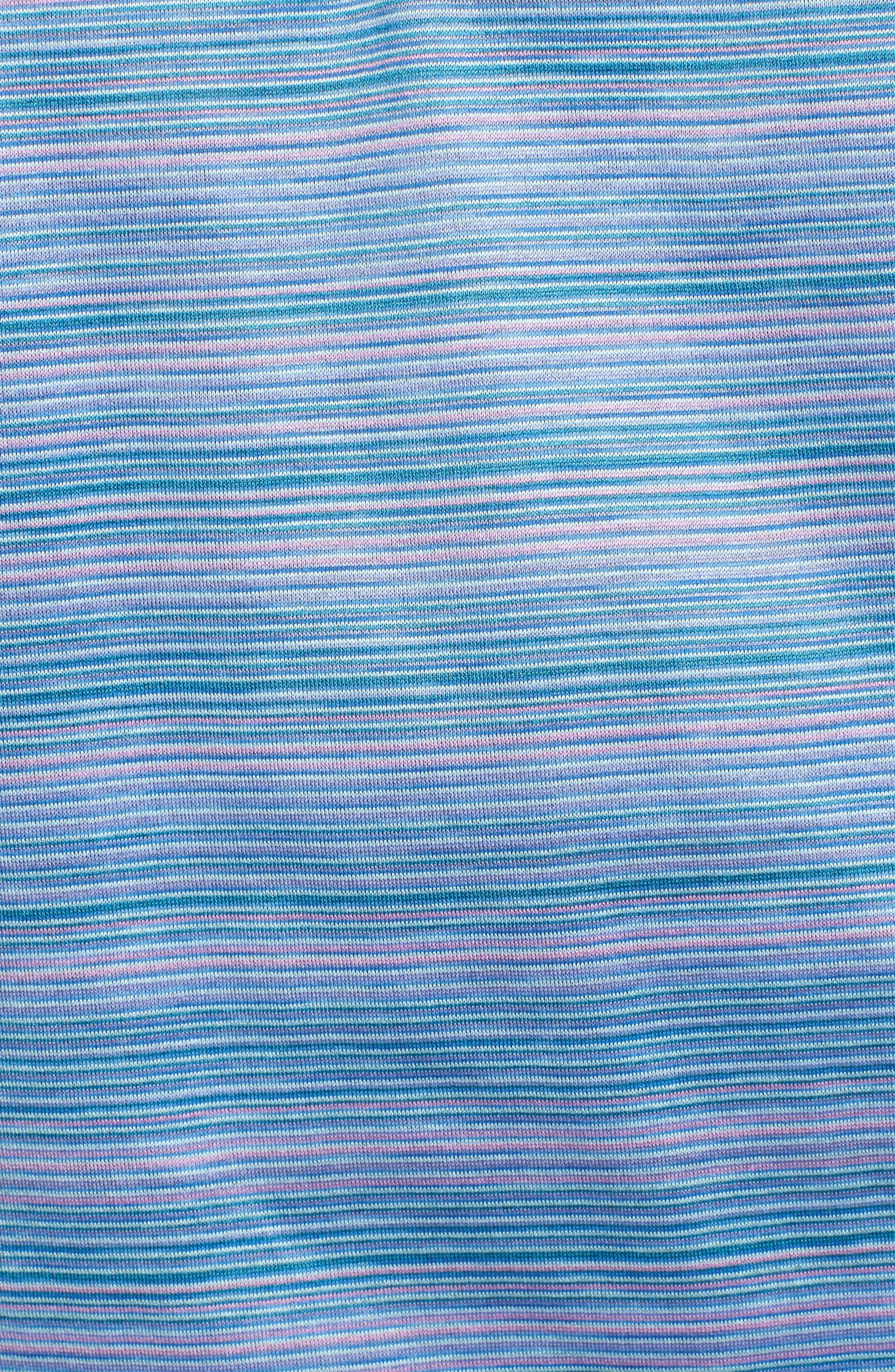 Stripe Mercerized Cotton Polo,                             Alternate thumbnail 5, color,                             Orchid