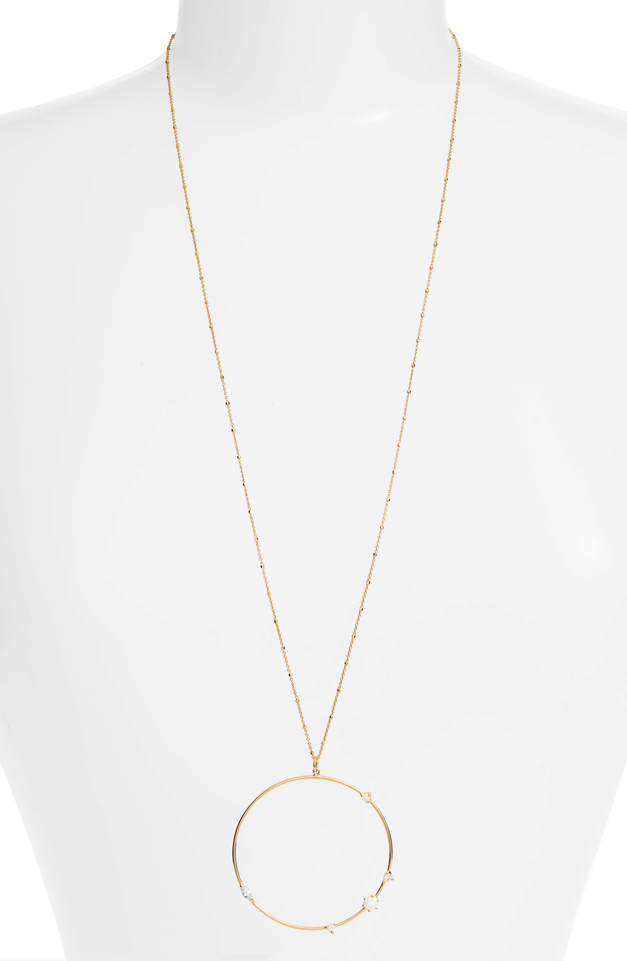 Argento Vivo Sydney Large Open Ring Pendant Necklace