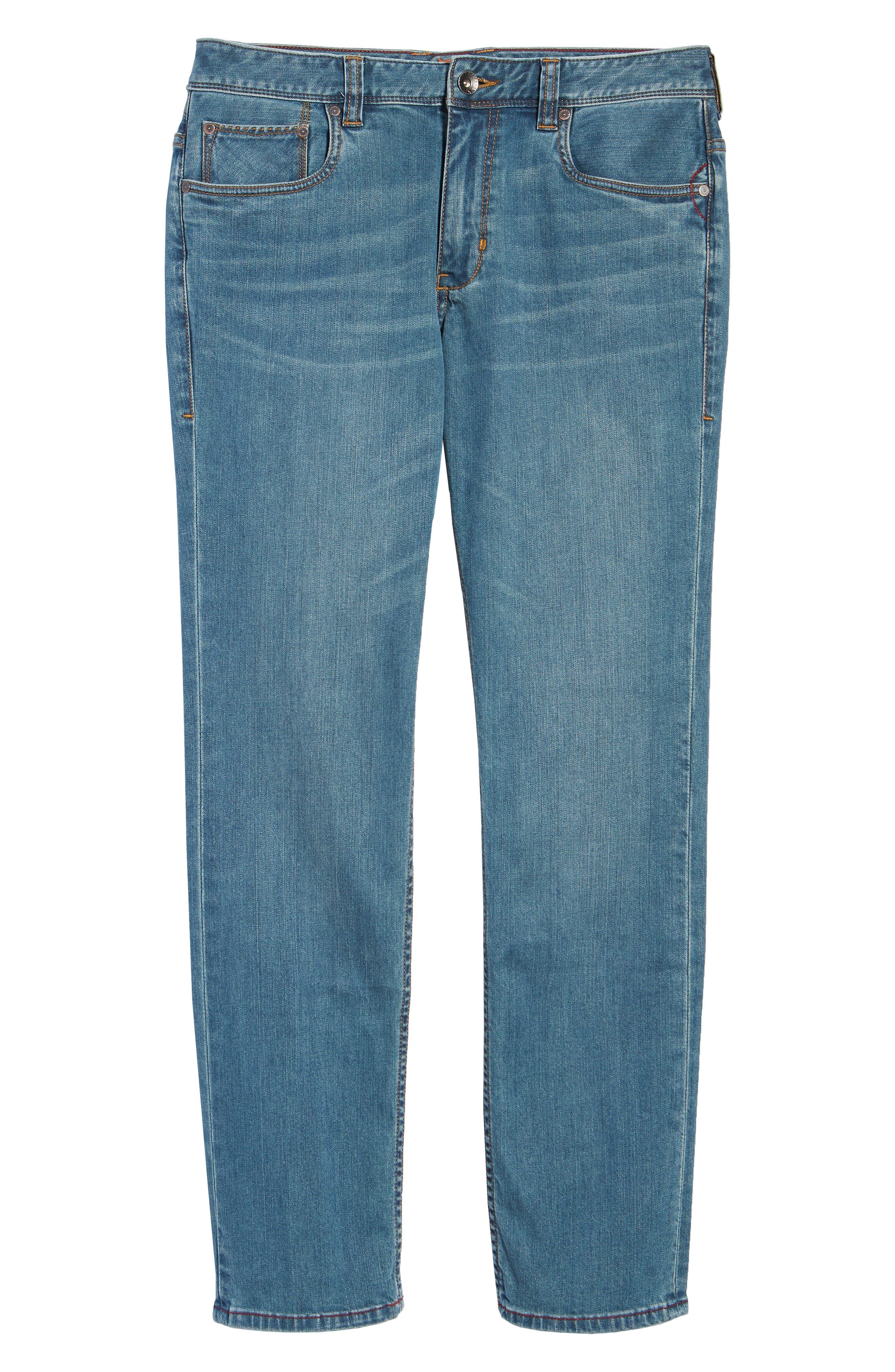 Vintage Fit Jeans,                             Alternate thumbnail 6, color,                             Vintage Wash
