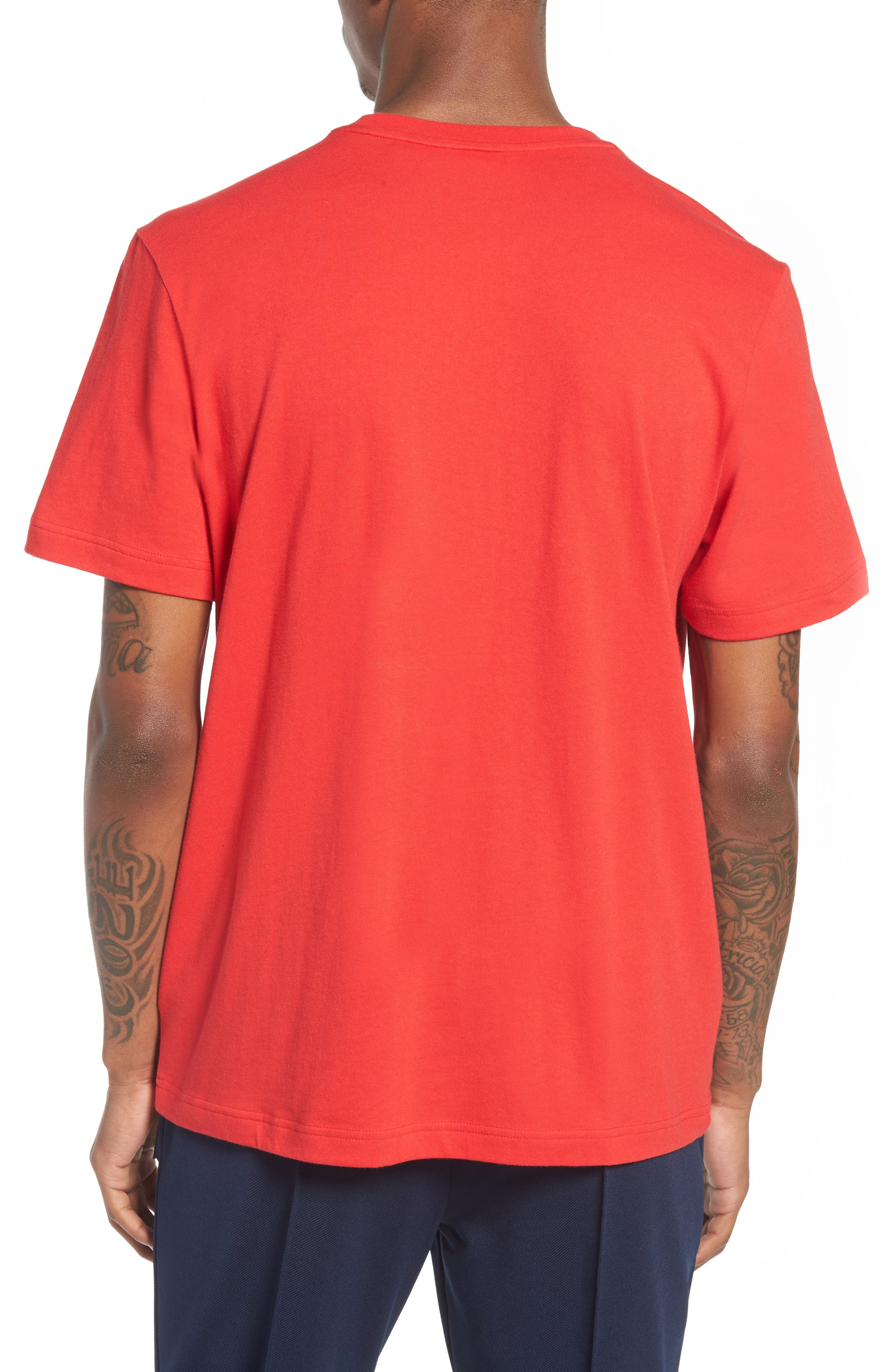 Floating F T-Shirt,                             Alternate thumbnail 2, color,                             Chinese Red