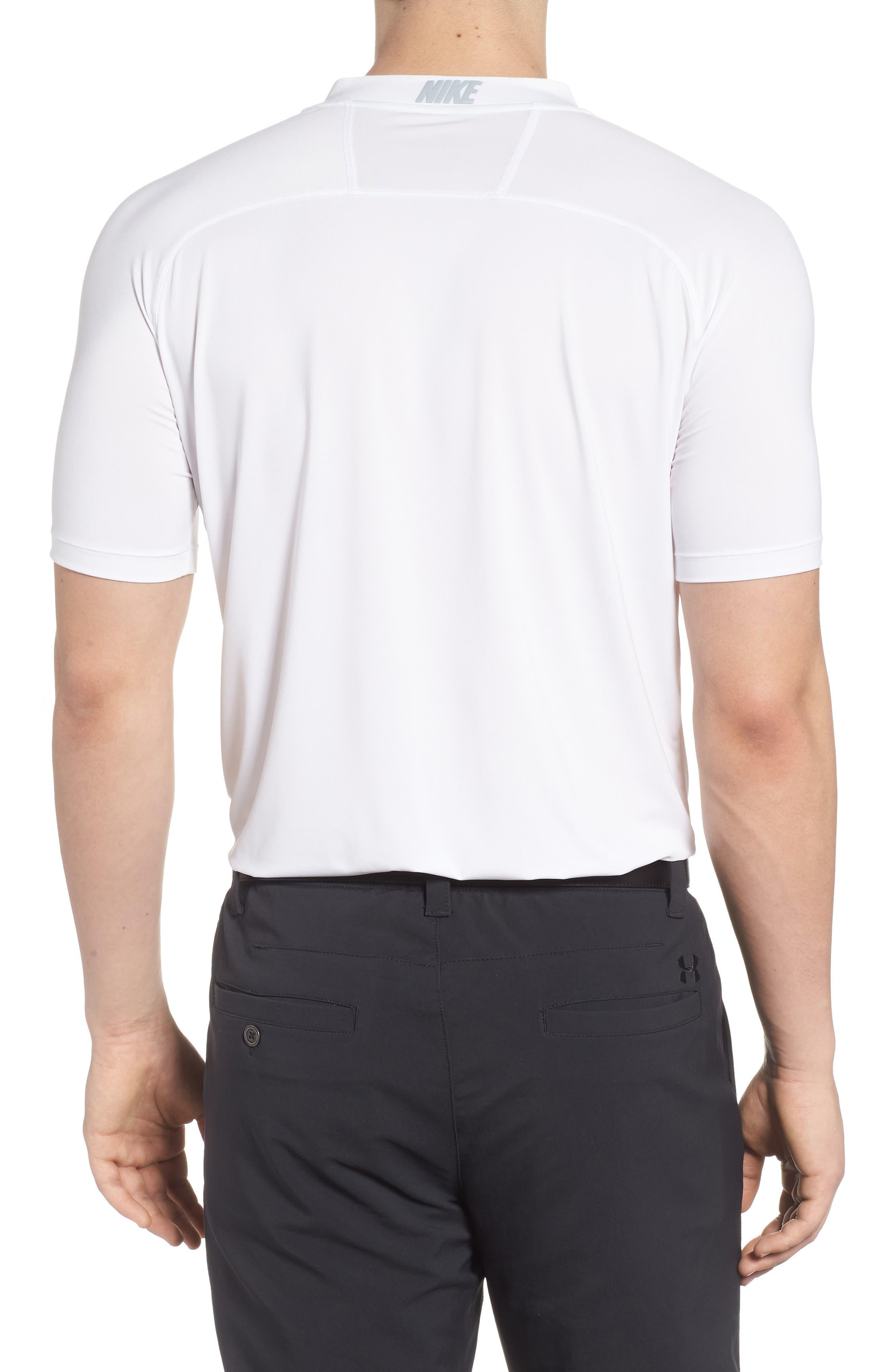 Dry Dynamic Slim Fit Polo,                             Alternate thumbnail 2, color,                             White/ Silver