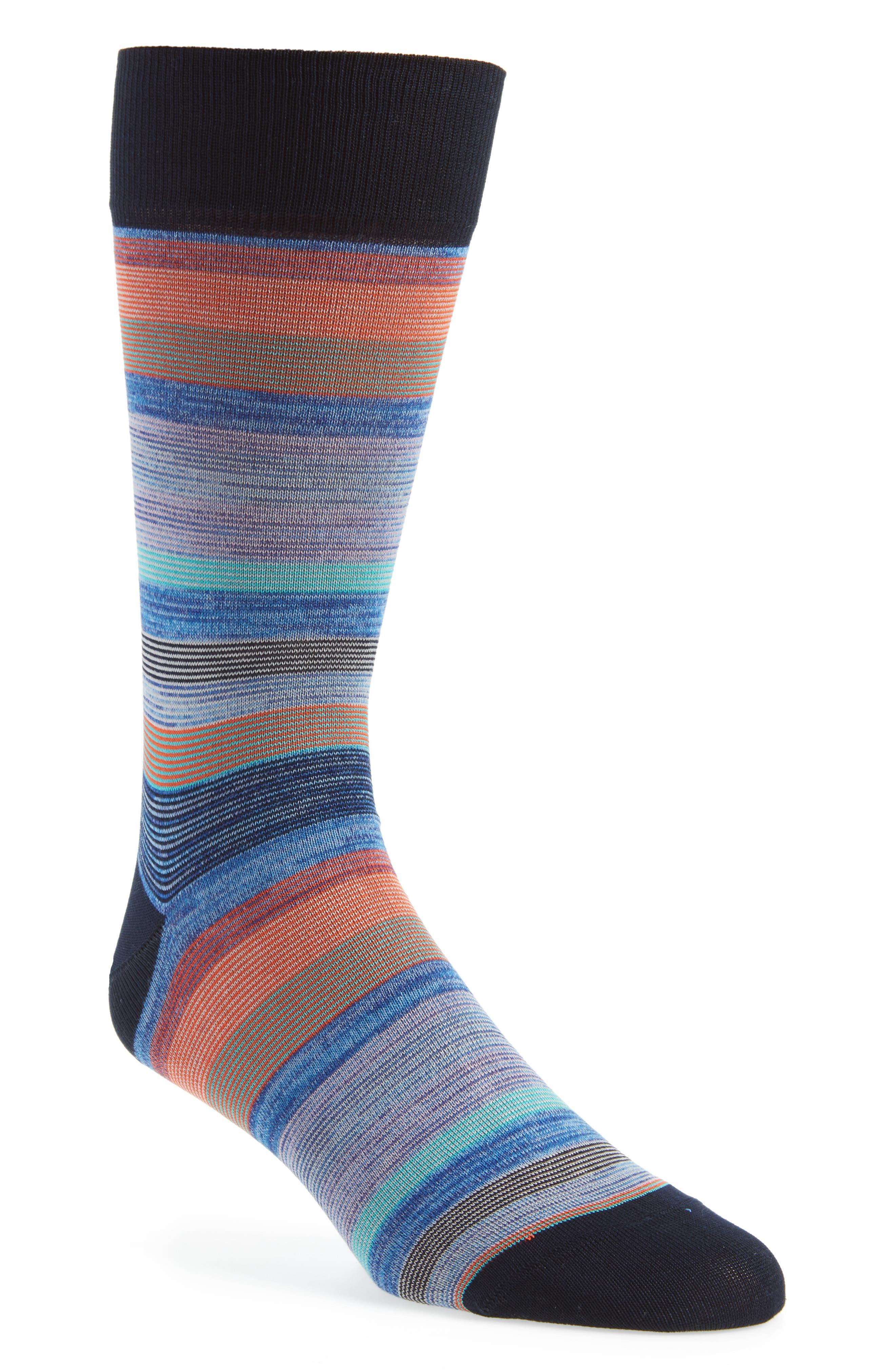 Stripe Socks,                             Main thumbnail 1, color,                             Midnight