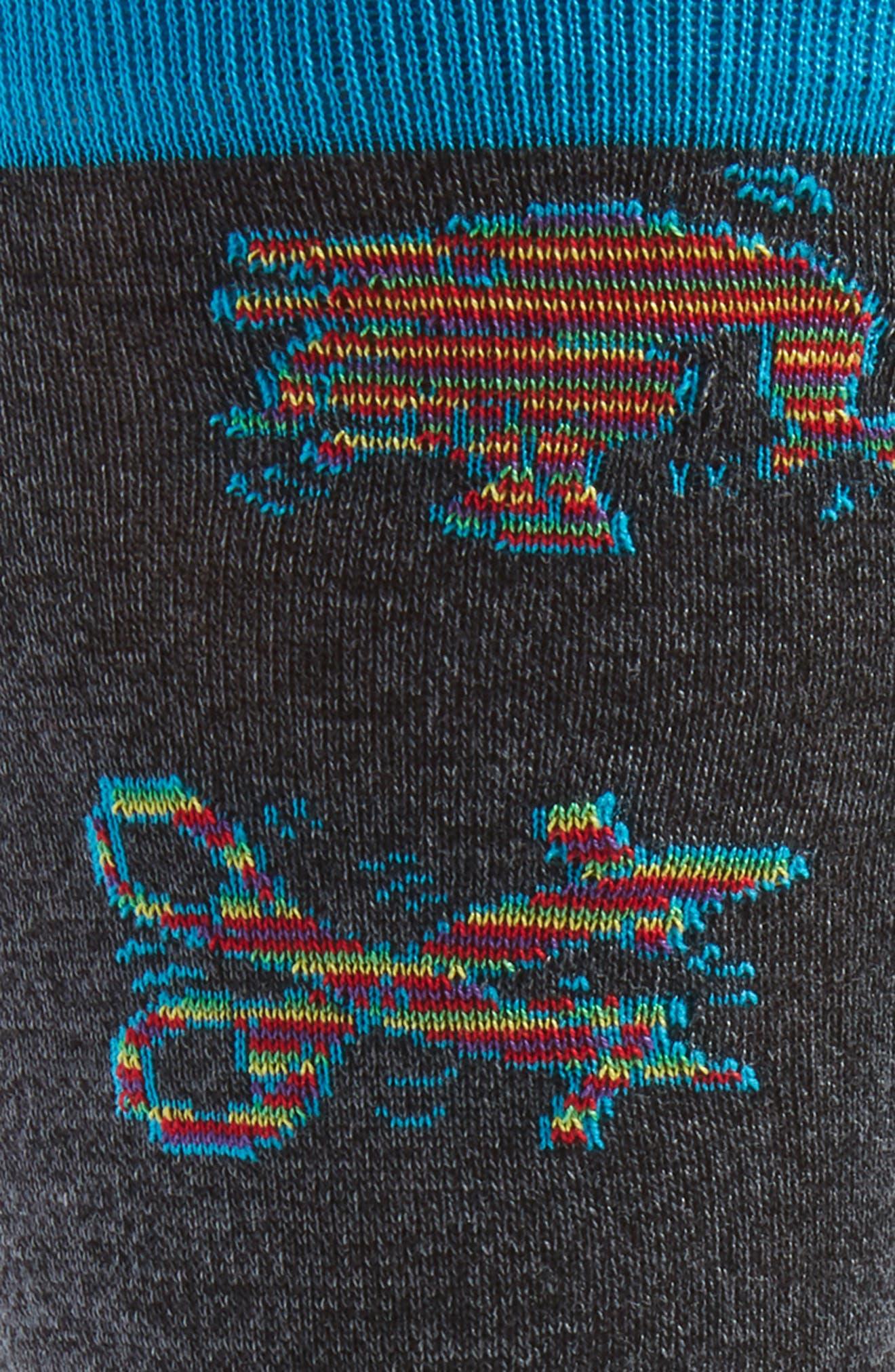 Cotton Blend Socks,                             Alternate thumbnail 2, color,                             Black