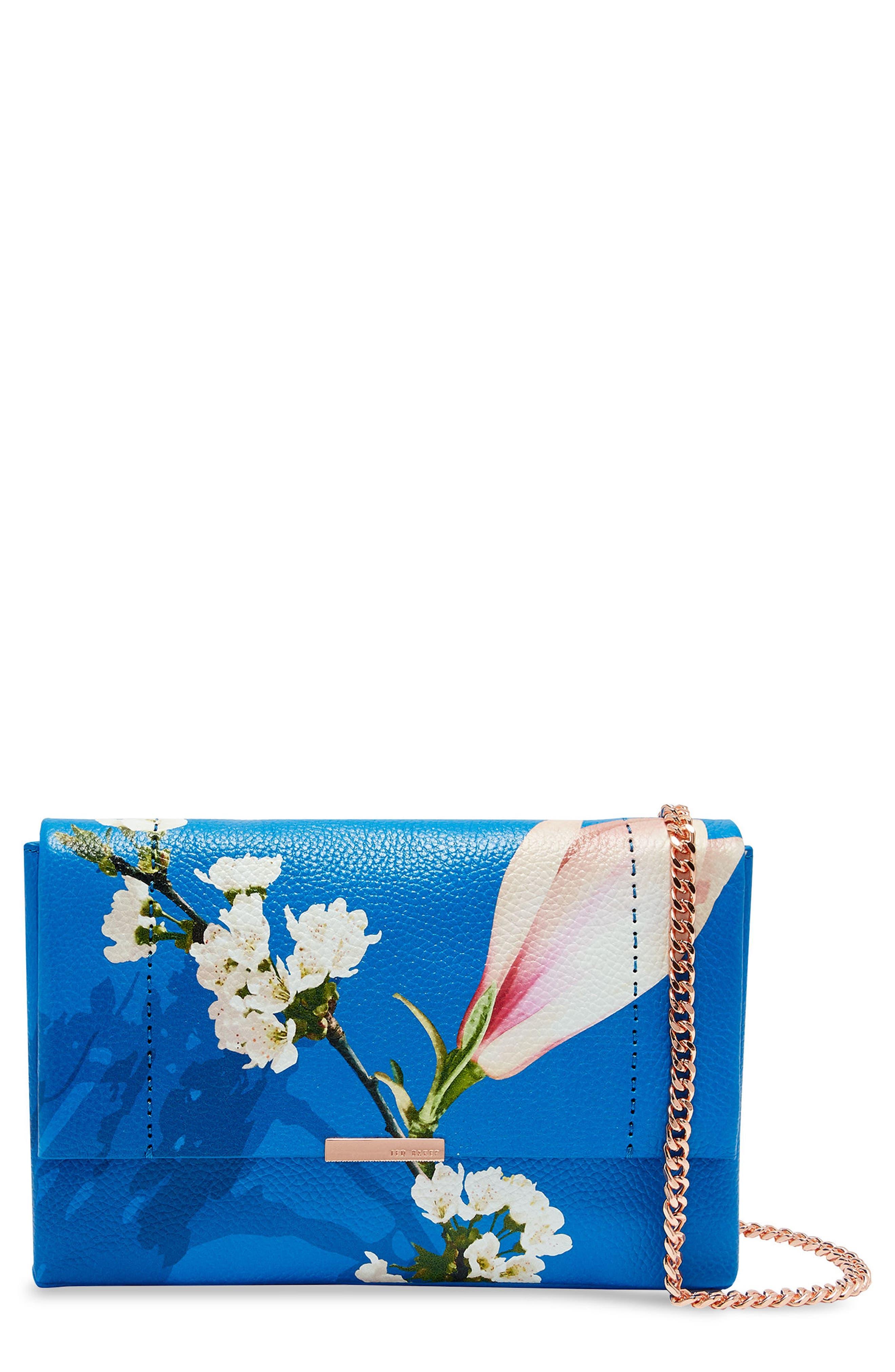 Haalle Harmony Leather Crossbody Bag,                             Main thumbnail 1, color,                             Bright Blue