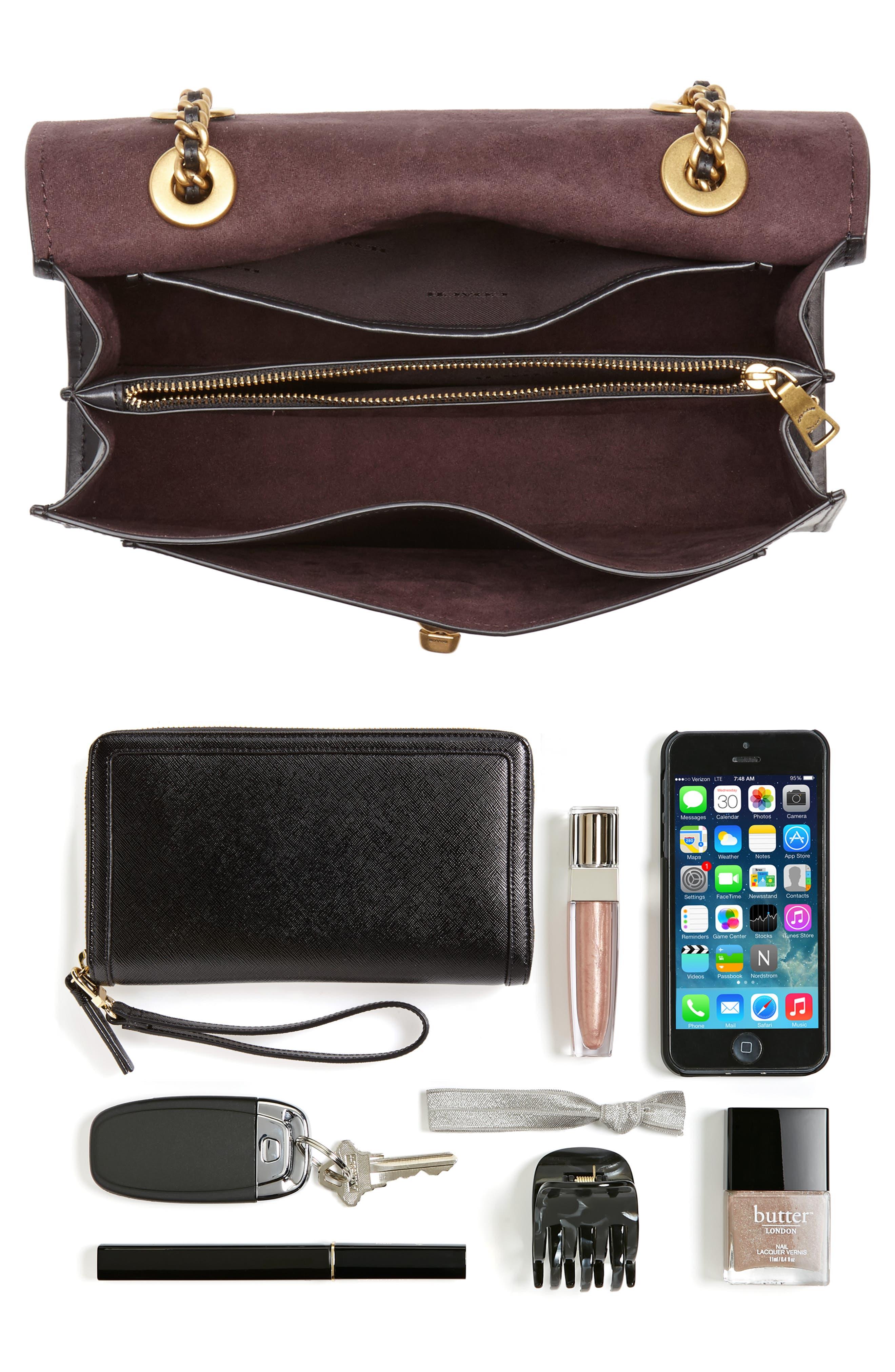 Parker Leather Shoulder Bag,                             Alternate thumbnail 7, color,
