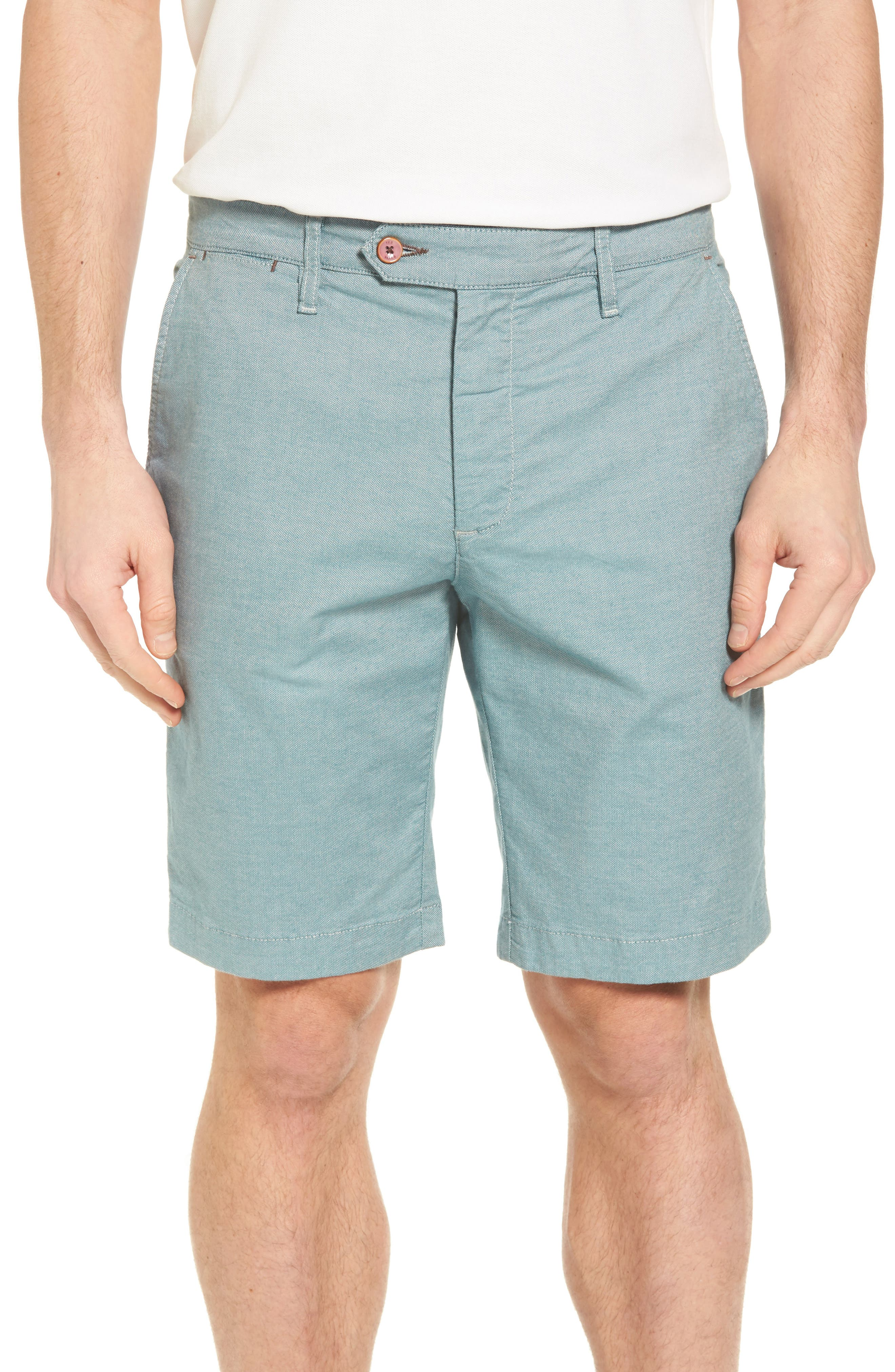 Herbott Stretch Cotton Shorts,                         Main,                         color, Green
