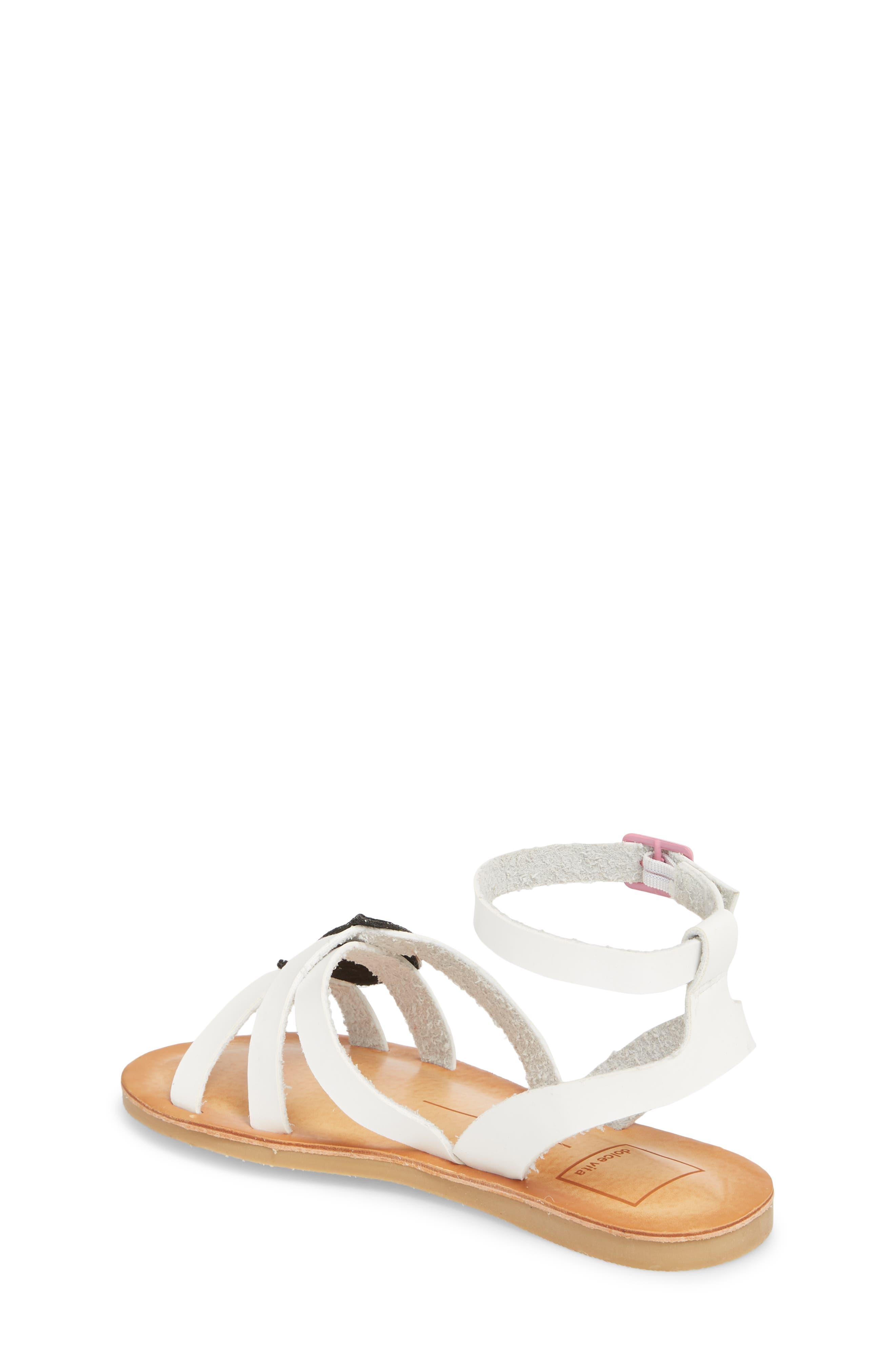 Jaclin Fruit Sequined Sandal,                             Alternate thumbnail 2, color,                             White