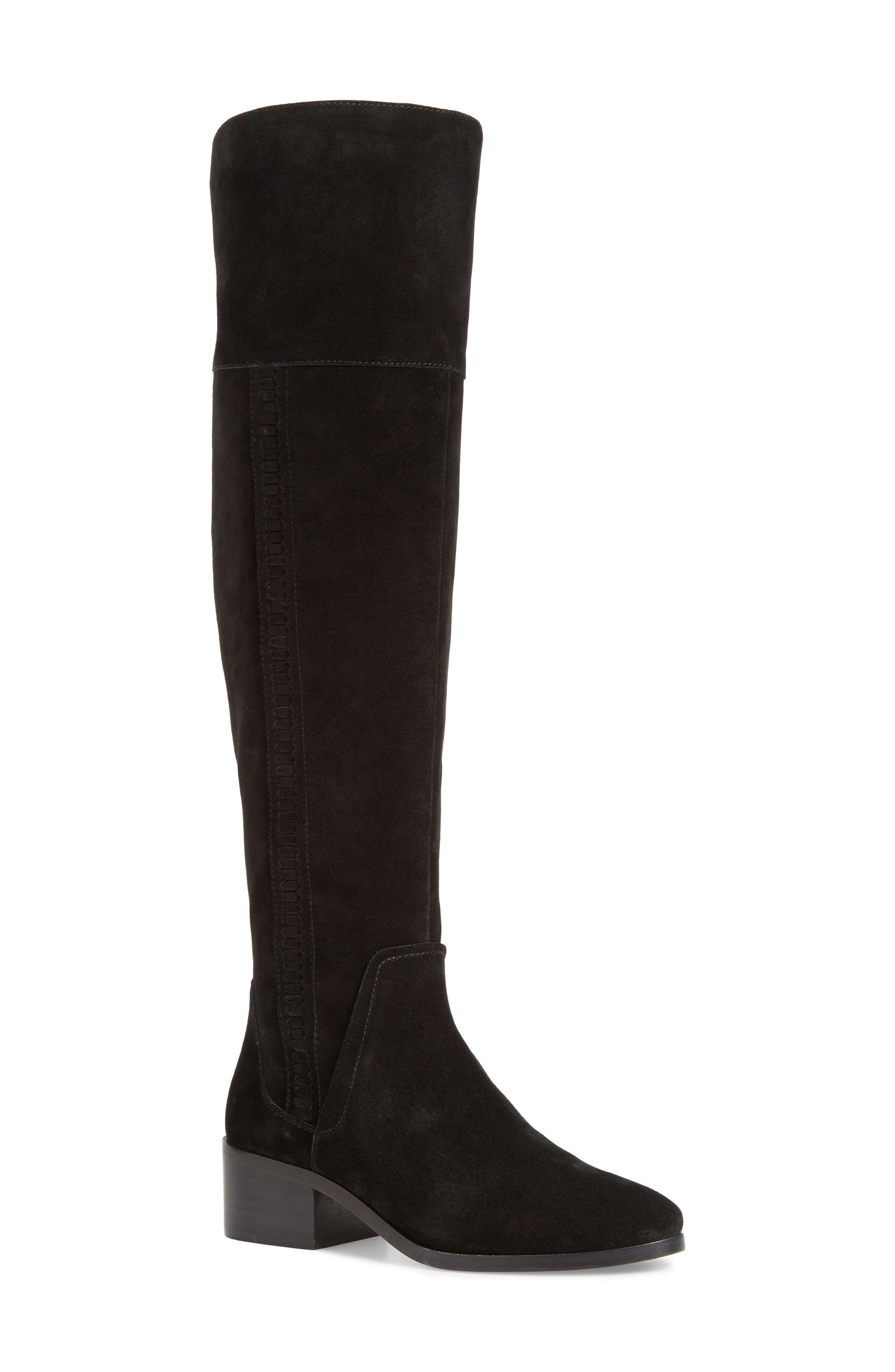 Kochelda Over the Knee Boot,                             Main thumbnail 1, color,                             Black Suede