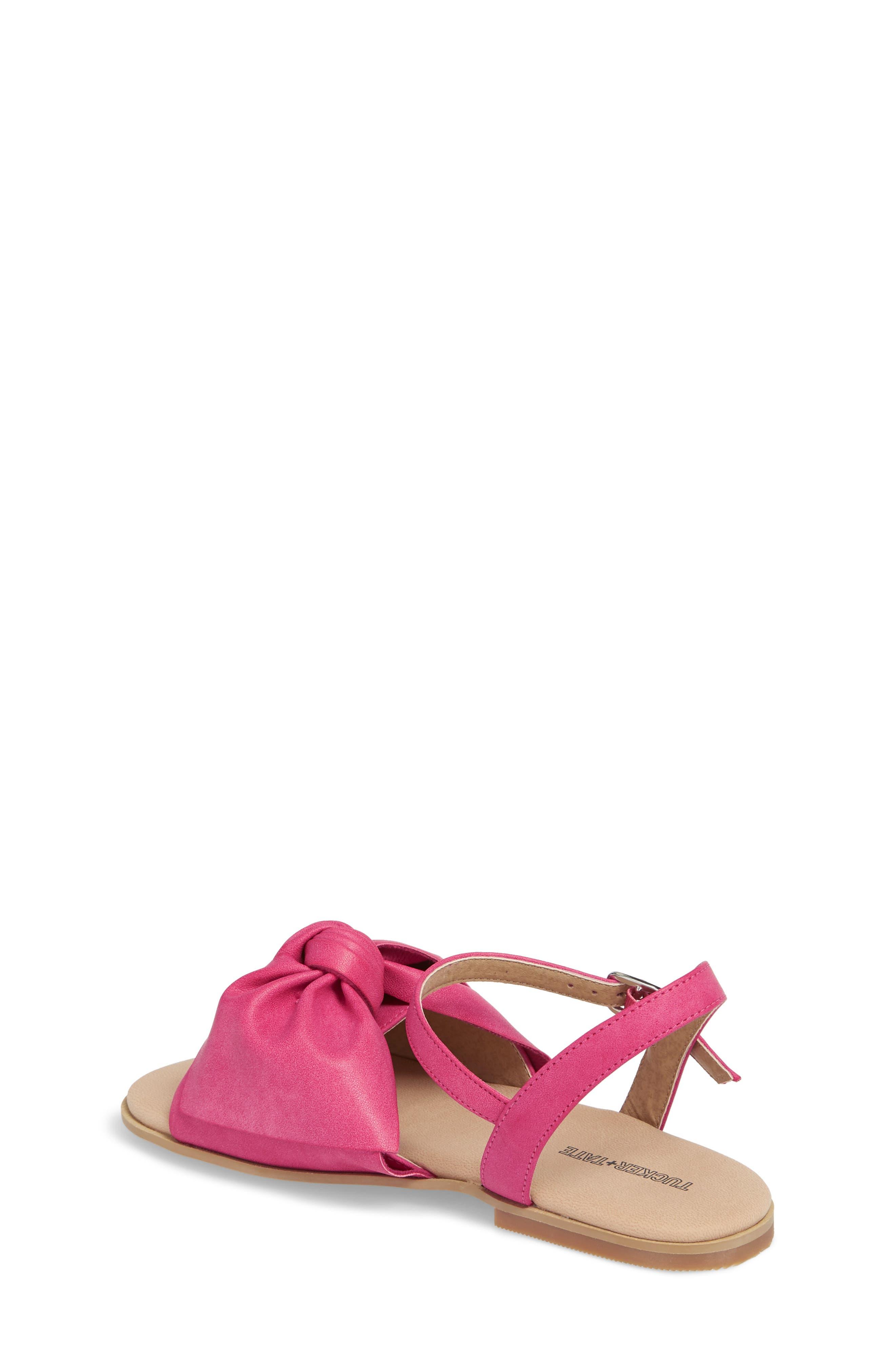 Larissa Knotted Sandal,                             Alternate thumbnail 2, color,                             Fuschia Faux Leather