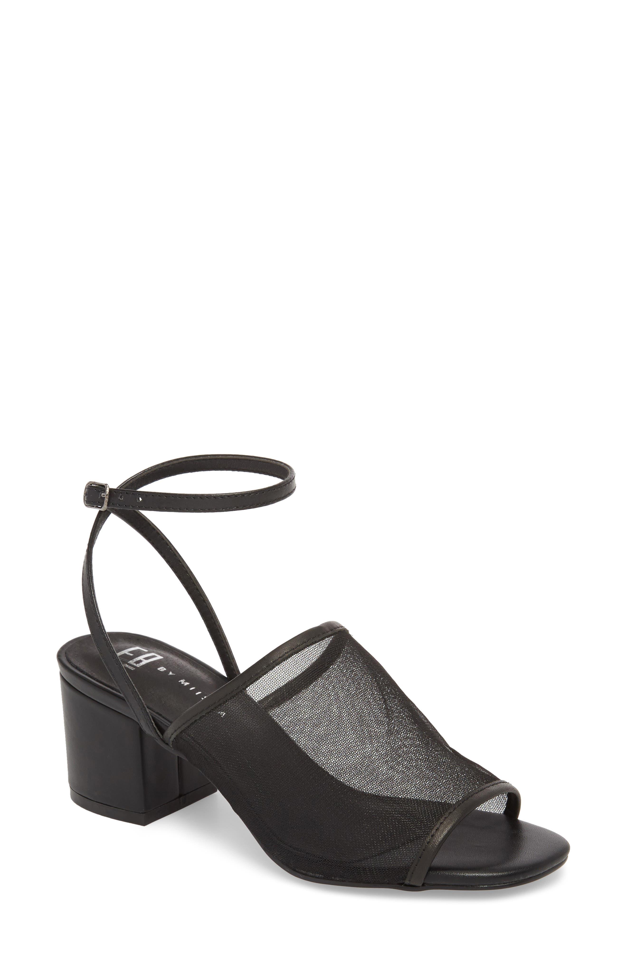 Jenson Mesh Sandal,                         Main,                         color, Black Mesh Fabric