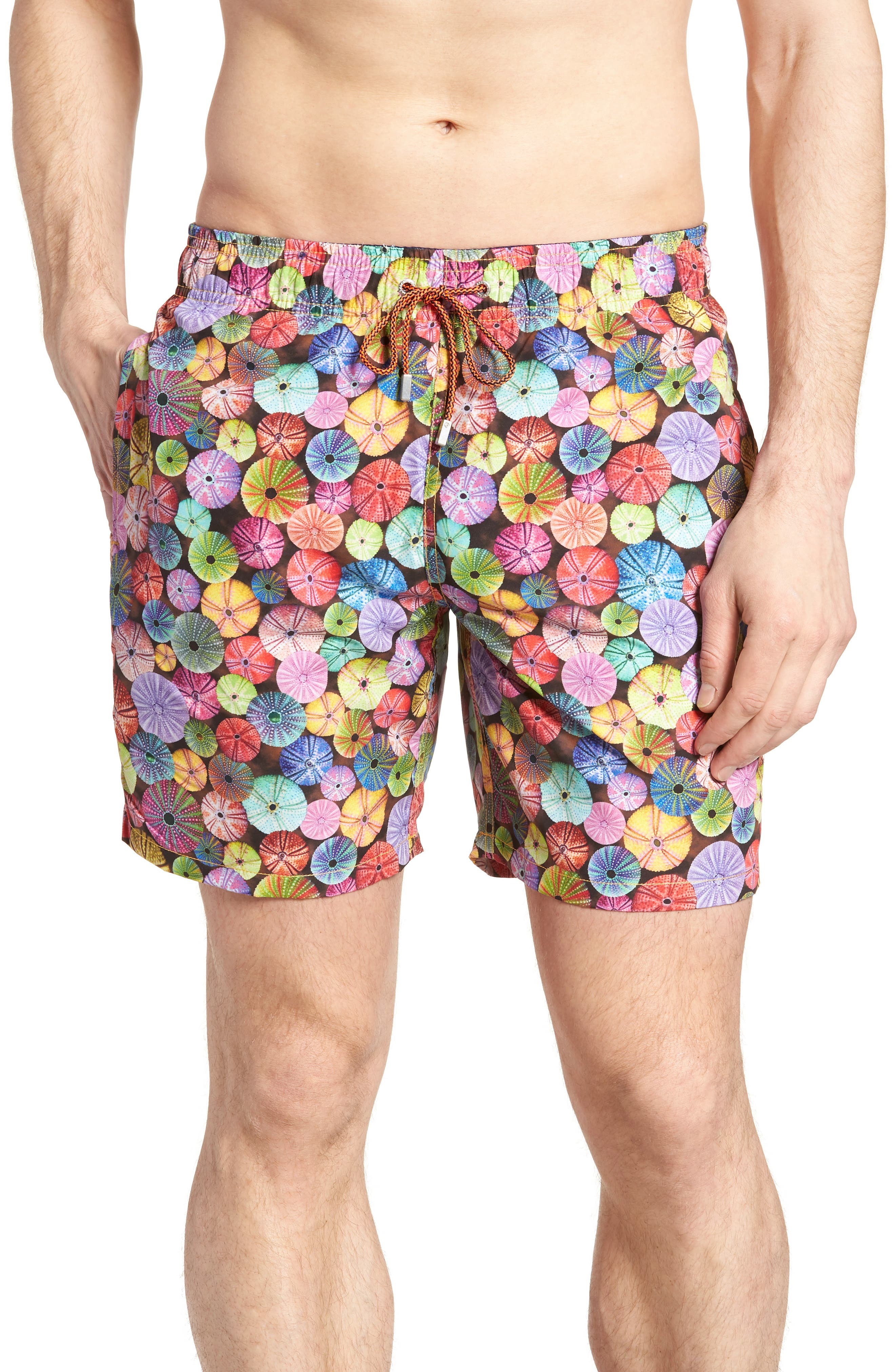 Swim Trunks,                             Main thumbnail 1, color,                             Candy