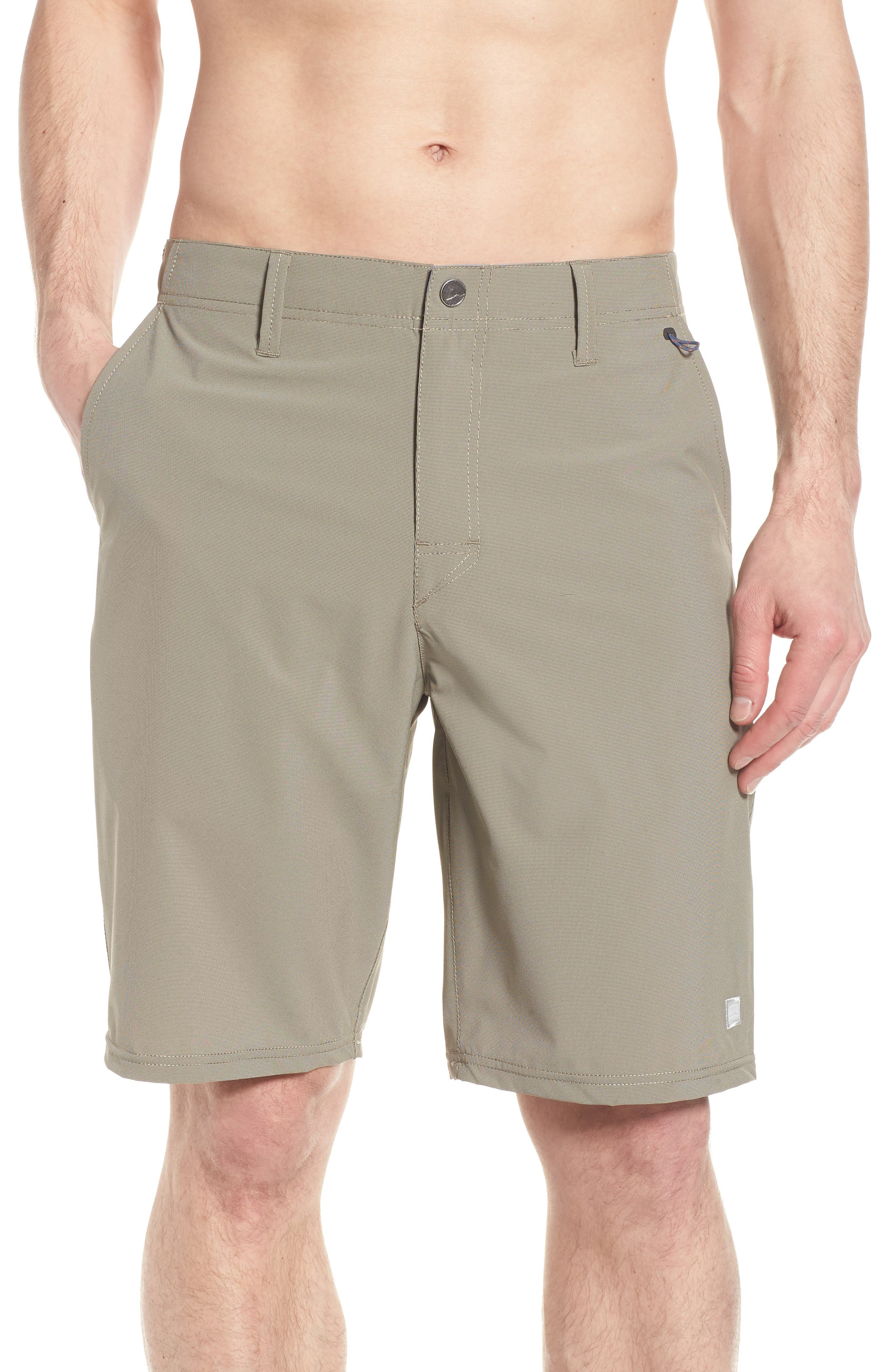 Seaside Hybrid Shorts,                             Alternate thumbnail 4, color,                             Espresso