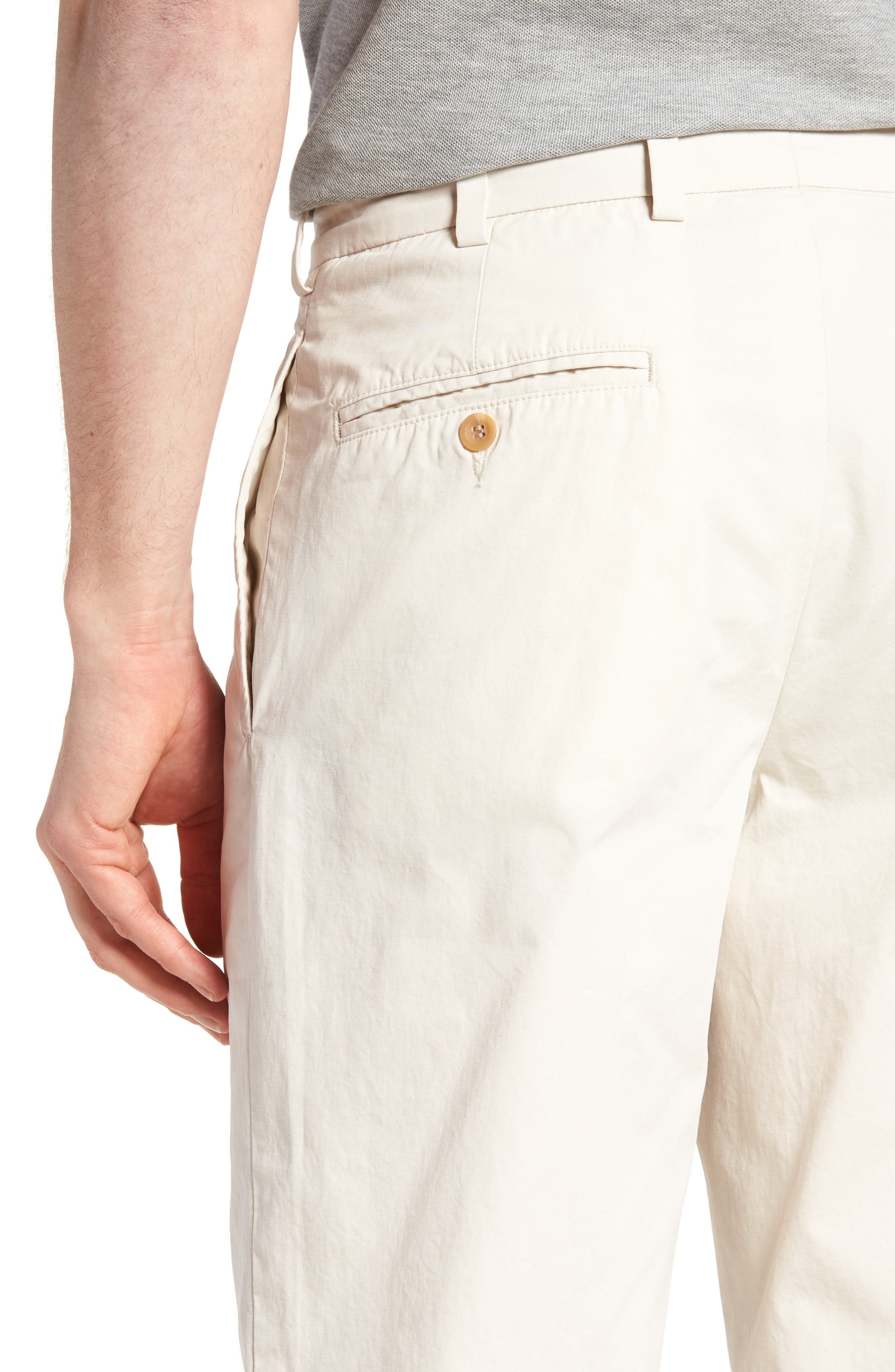 M2 Classic Fit Pleated Tropical Cotton Poplin Pants,                             Alternate thumbnail 4, color,                             Sand
