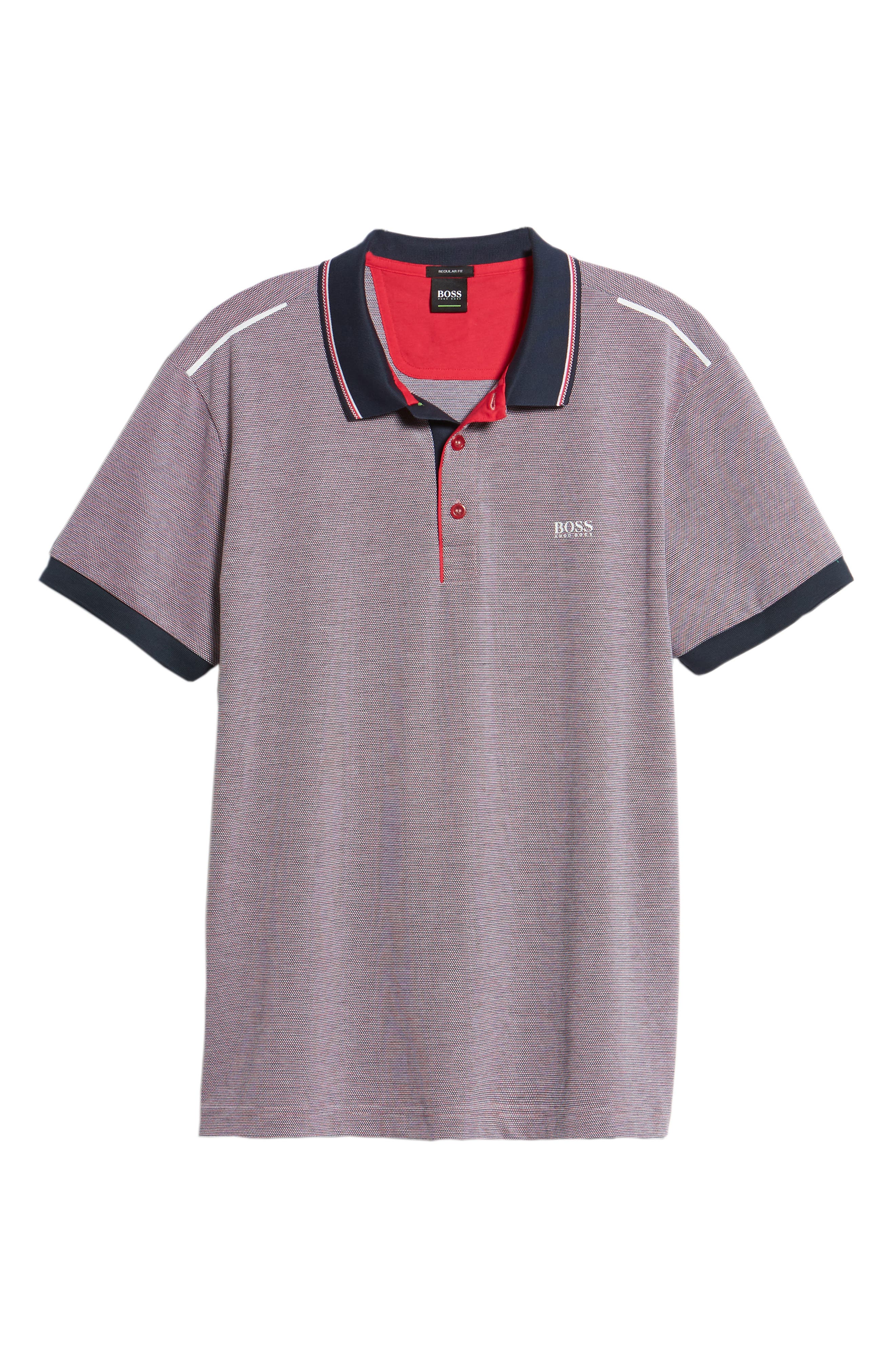 Paddy Regular Fit Polo,                             Alternate thumbnail 6, color,                             Red