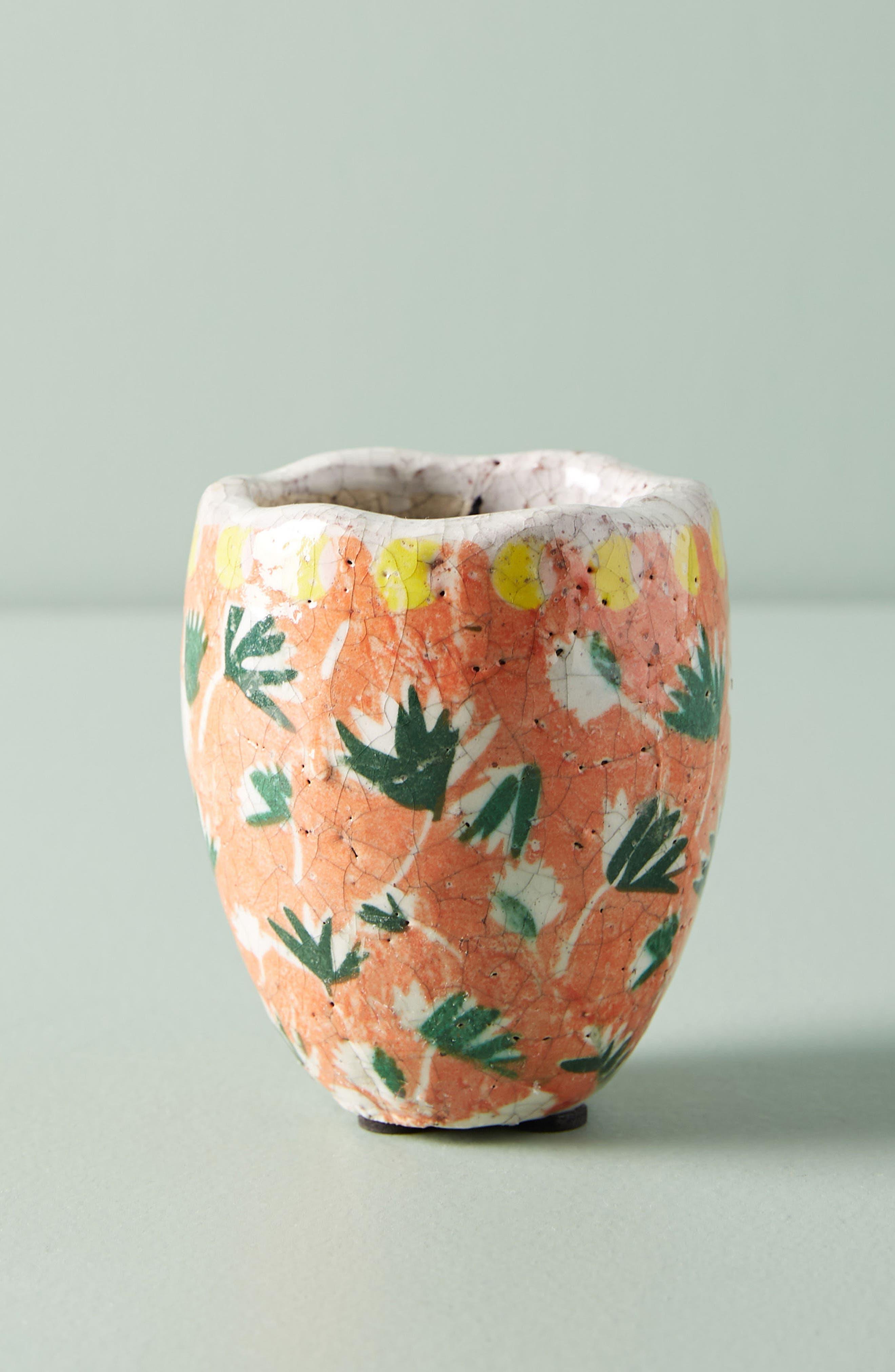 Bismark Mini Garden Pot,                         Main,                         color, Peach
