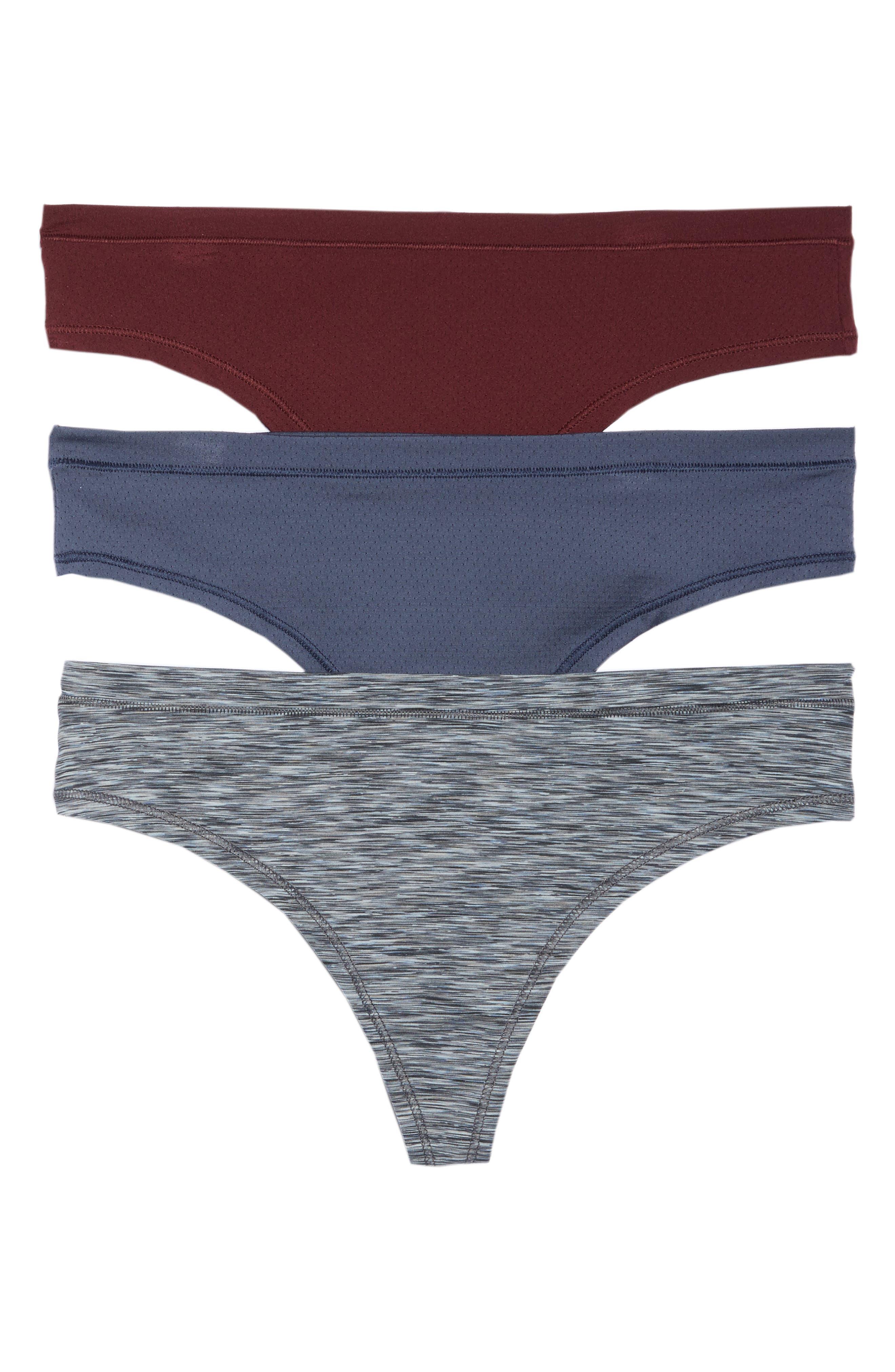 Active 3-Pack Thongs,                             Main thumbnail 1, color,                             Grey Slate Combo