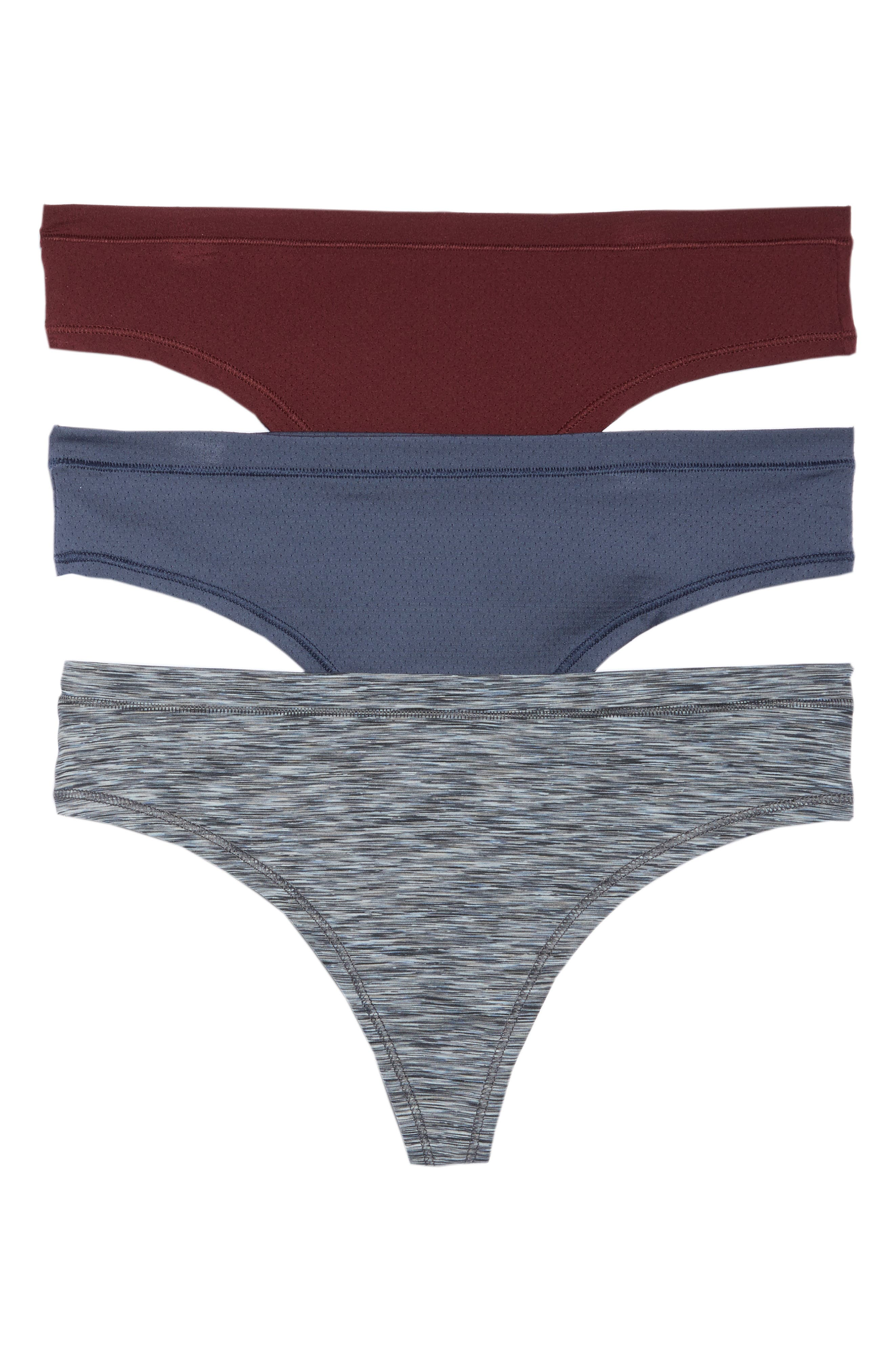 Active 3-Pack Thongs,                         Main,                         color, Grey Slate Combo