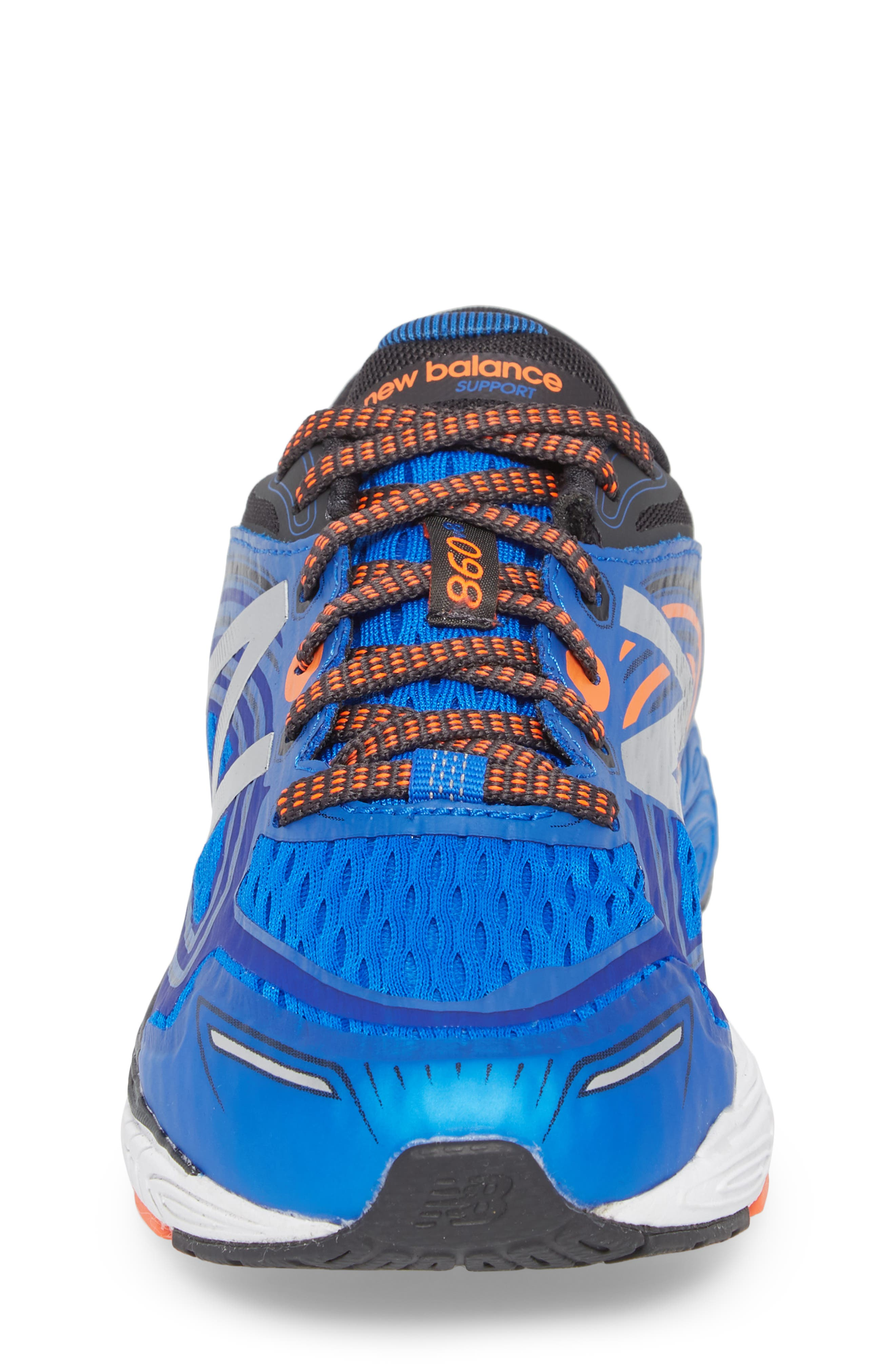 860v8 Sneaker,                             Alternate thumbnail 4, color,                             Navy/ Grey