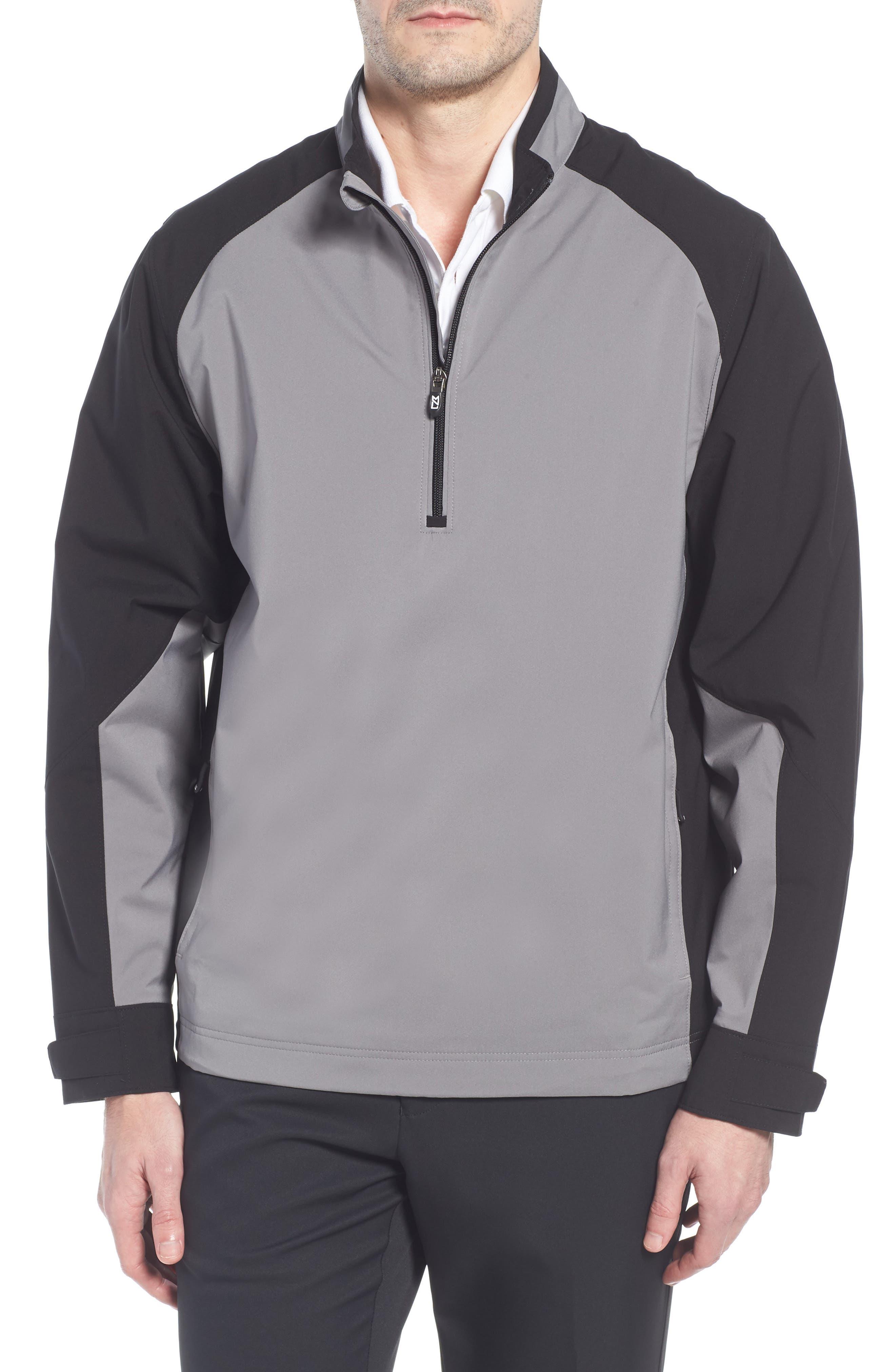 'Summit' WeatherTec Wind & Water Resistant Half Zip Jacket,                             Main thumbnail 1, color,                             Gravel