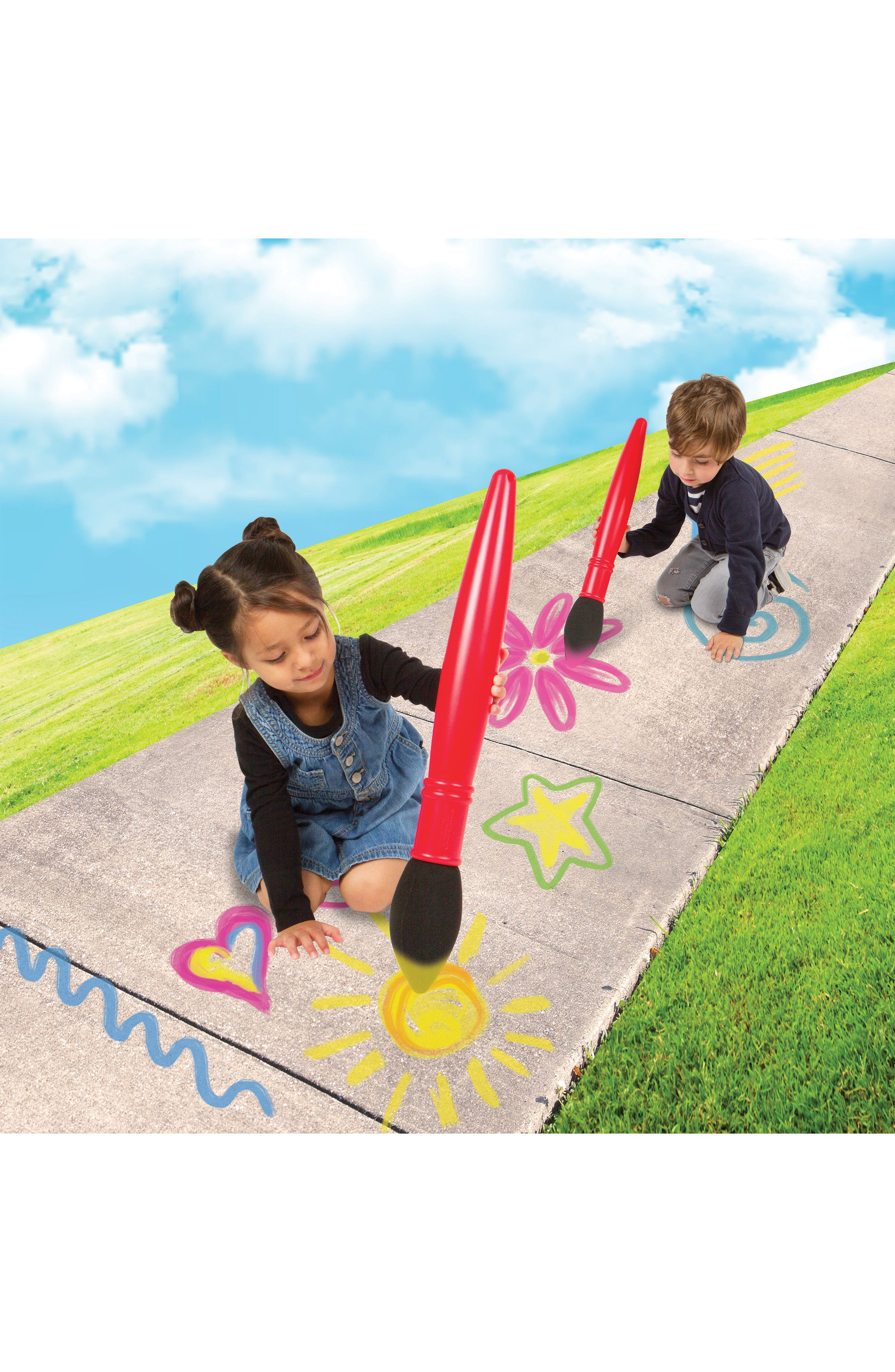 Fashion Angles 5-Piece Sidewalk Chalk Artist Giant Paintbrush Set,                             Alternate thumbnail 4, color,
