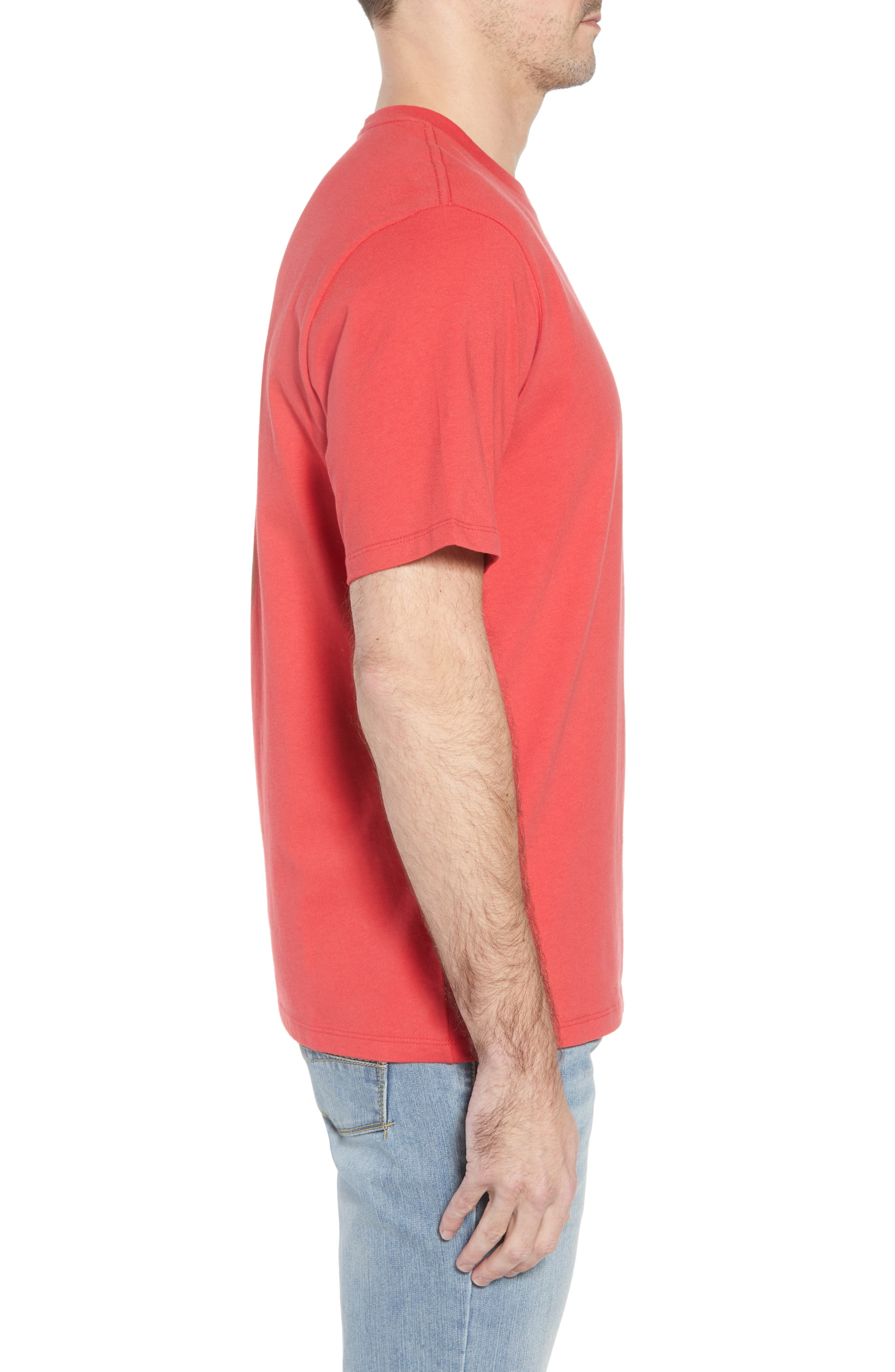 Thirst Base T-Shirt,                             Alternate thumbnail 3, color,                             Lucky Red
