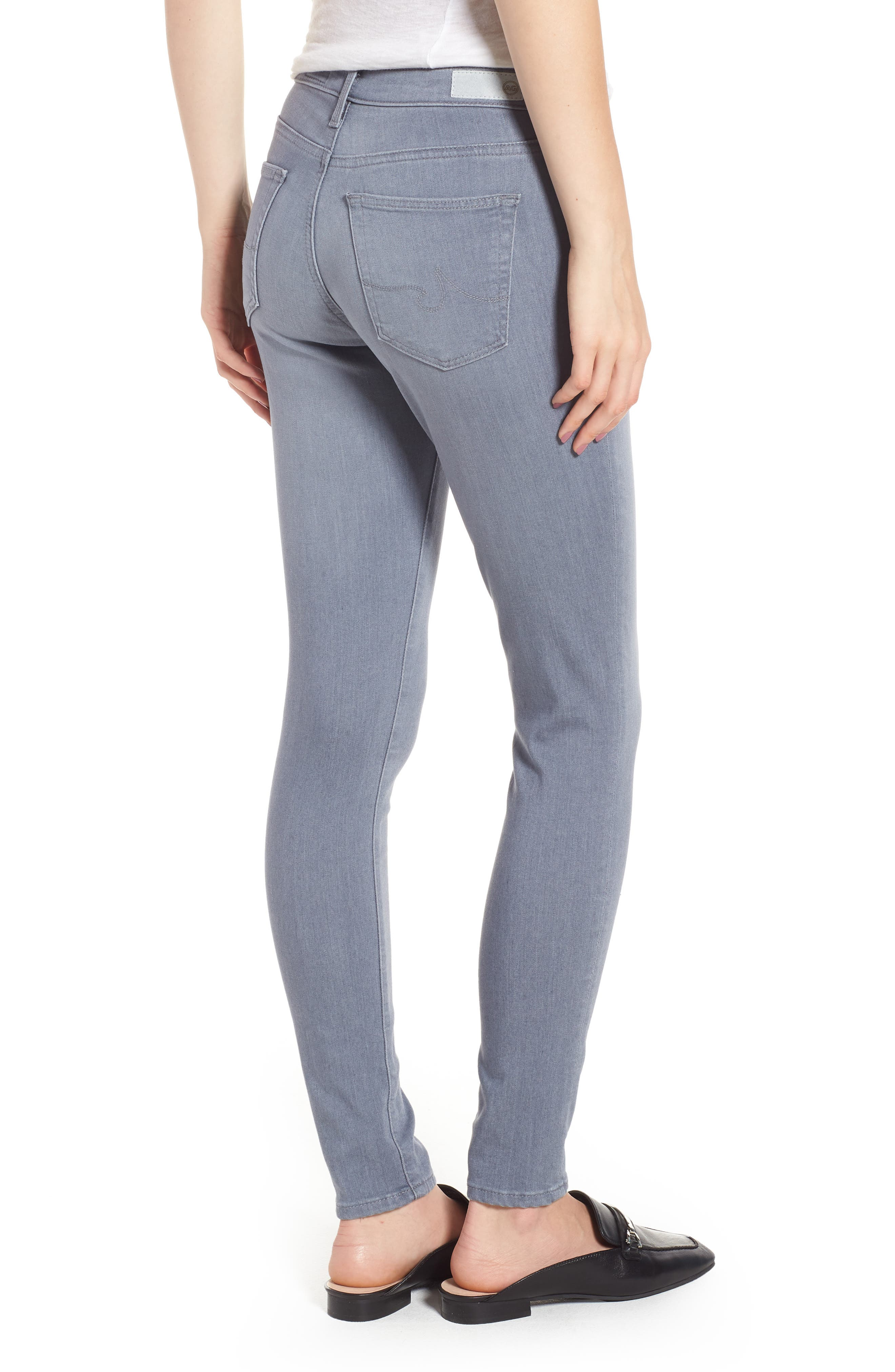 Ankle 'The Legging' Super Skinny Jeans,                             Alternate thumbnail 2, color,                             Valley Smoke