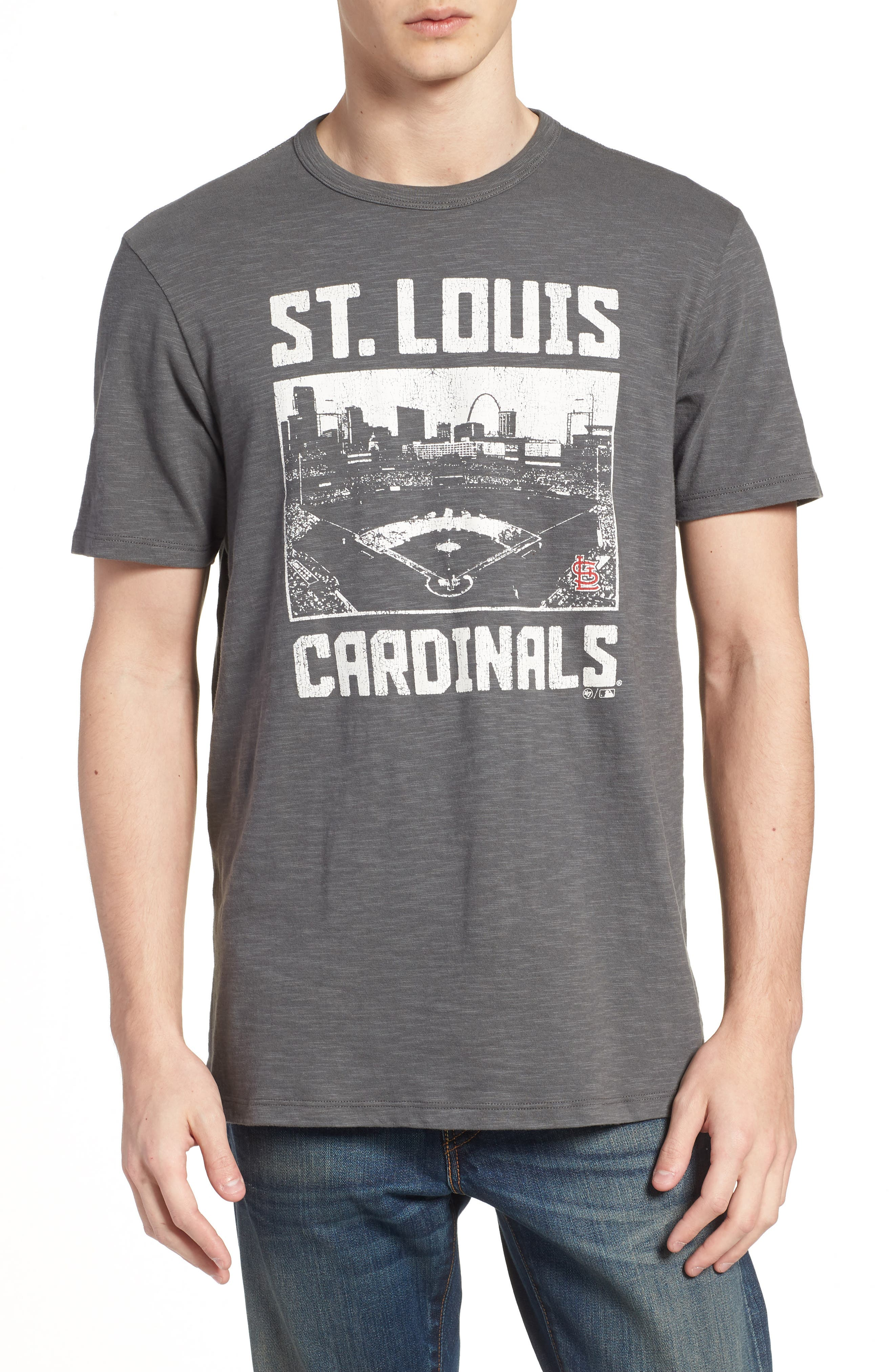 MLB Overdrive Scrum St. Louis Cardinals T-Shirt,                         Main,                         color, Submarine