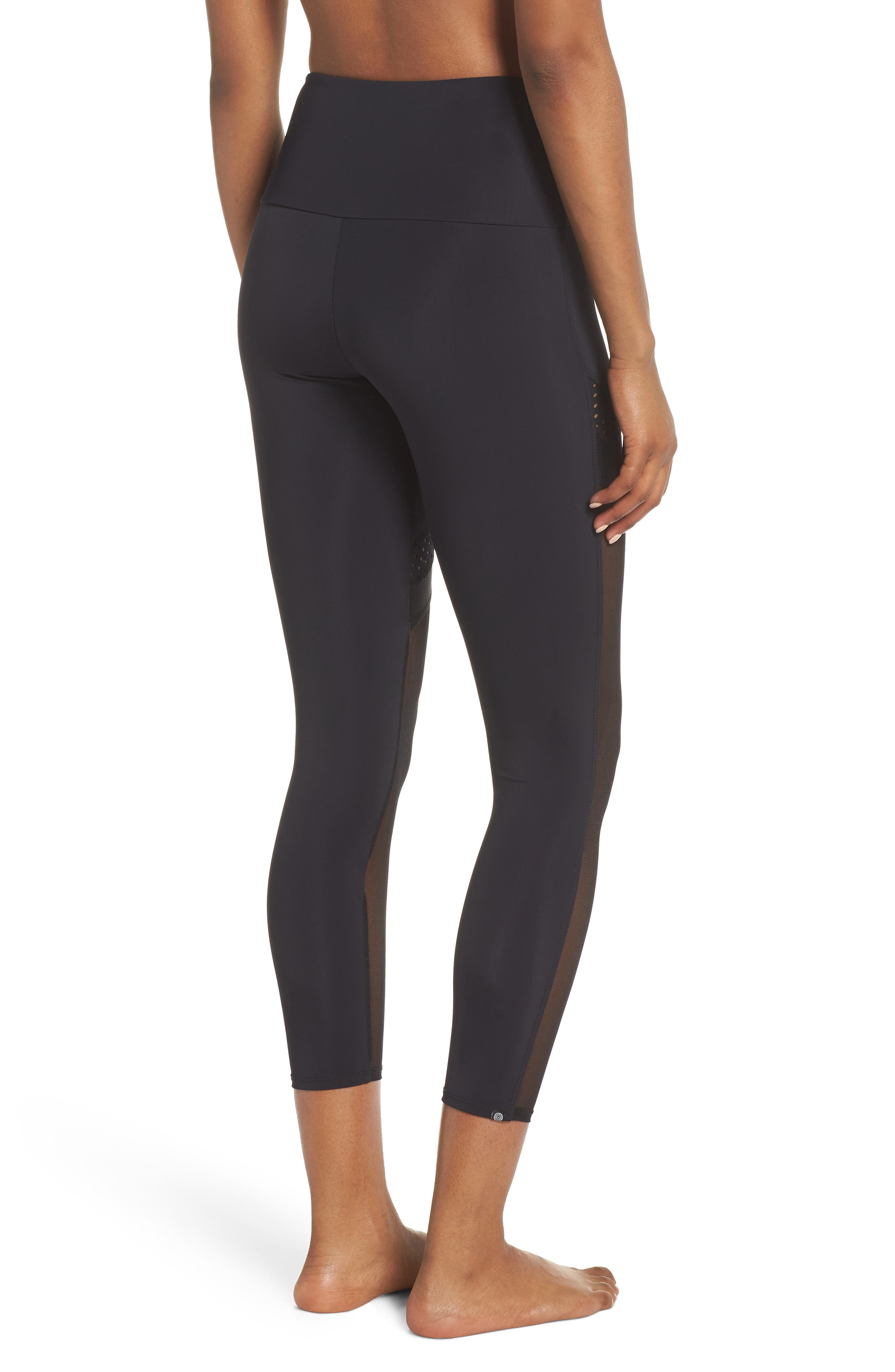 Chrome Leggings,                             Alternate thumbnail 2, color,                             Black