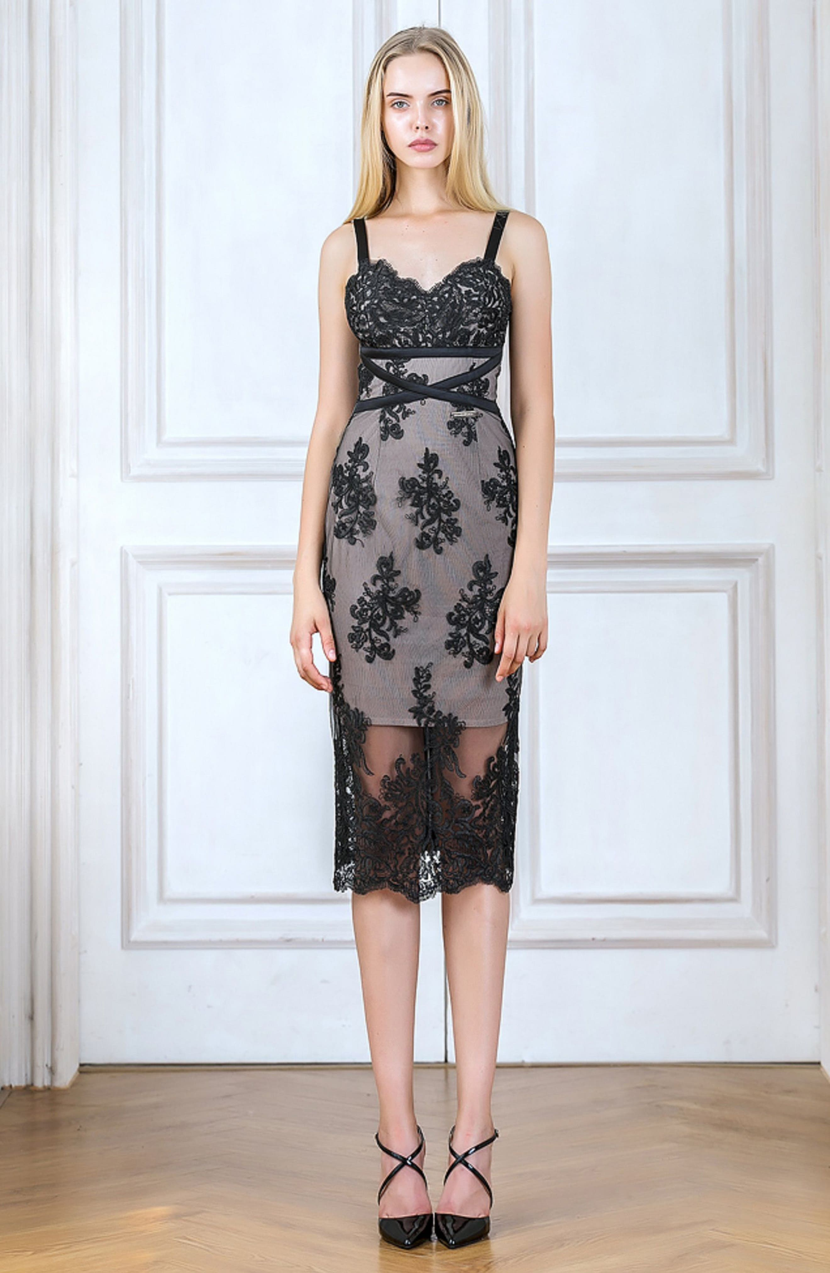 Camilla Lace Sheath Dress,                             Alternate thumbnail 7, color,
