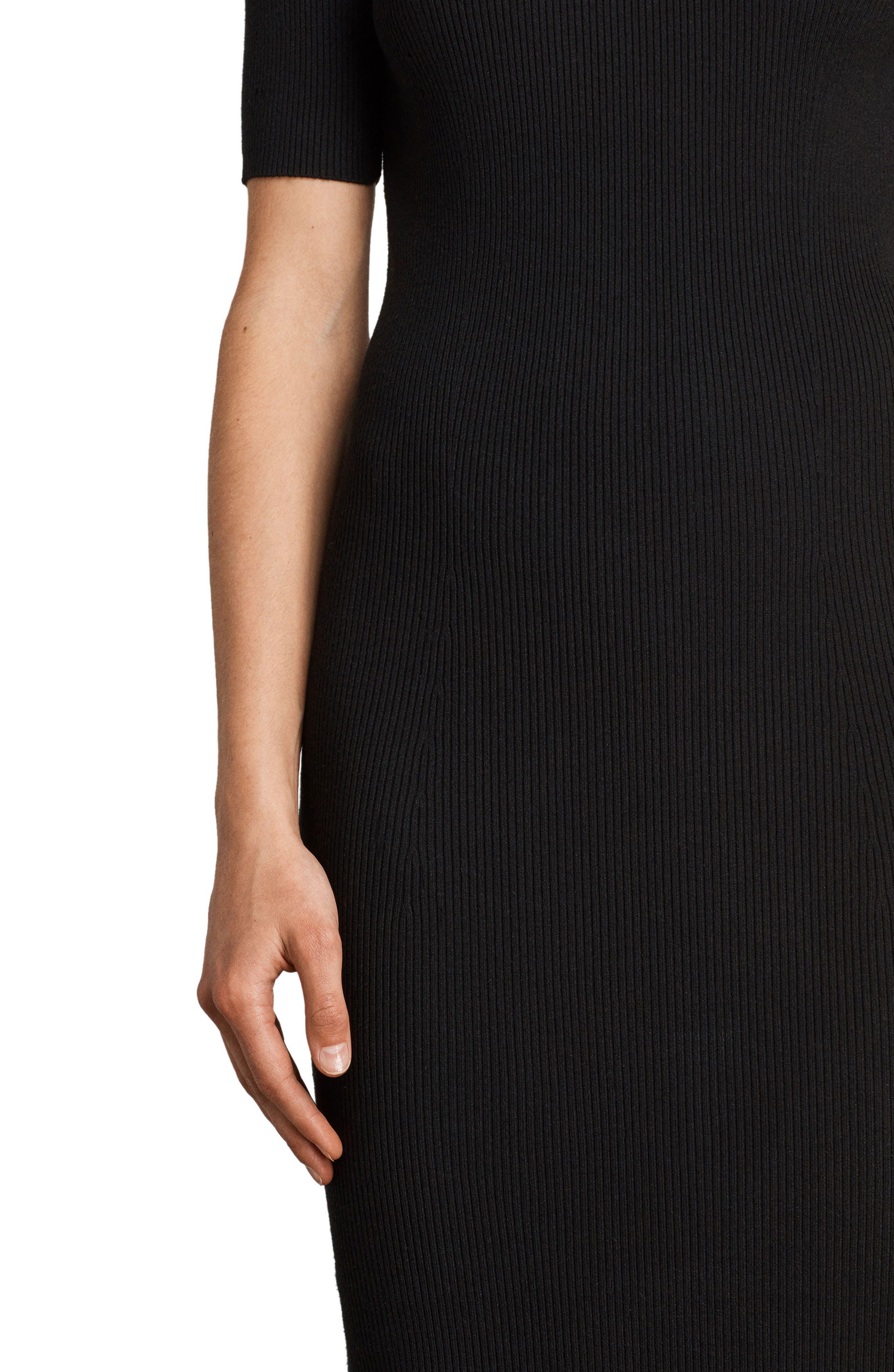 Lavine Bandeau Dress,                             Alternate thumbnail 5, color,                             Black